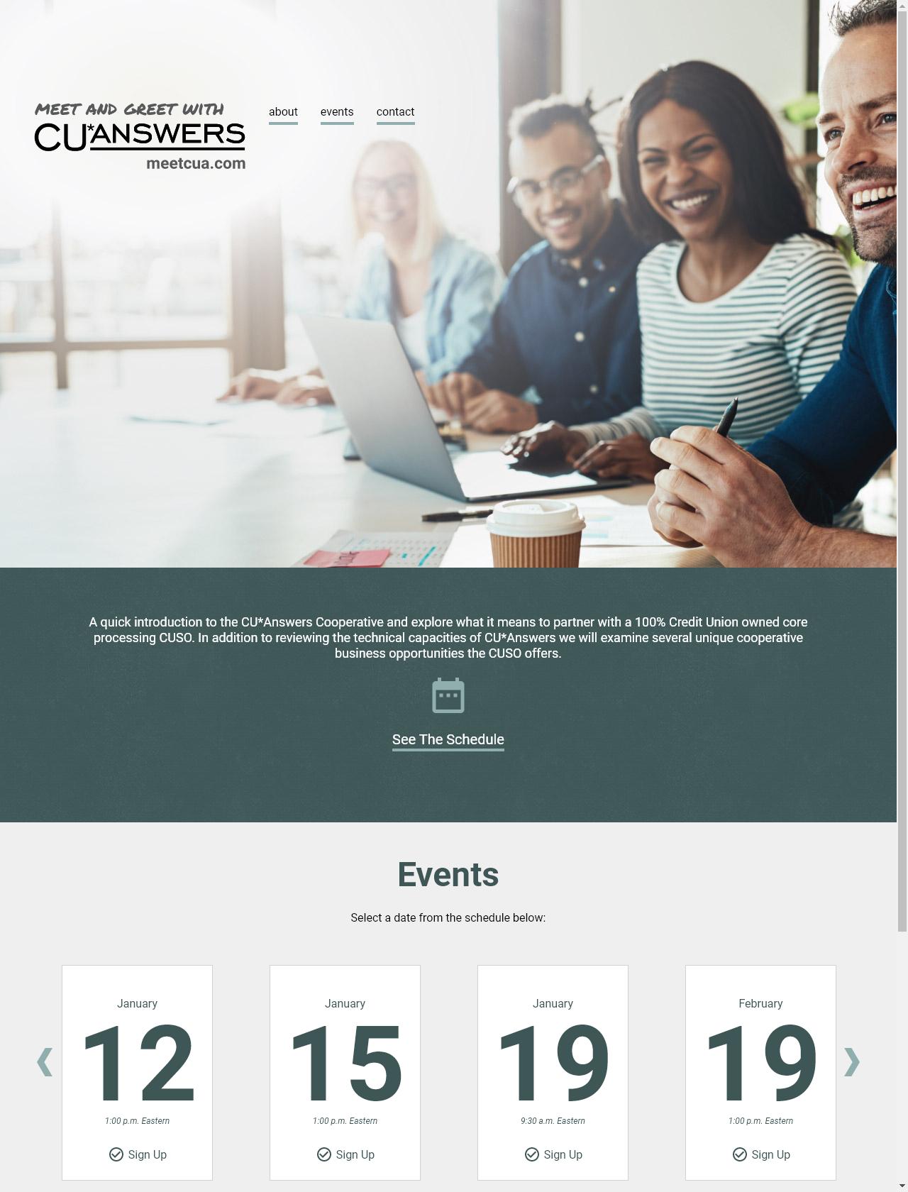 Screenshot Desktop - https://meetcua.com/