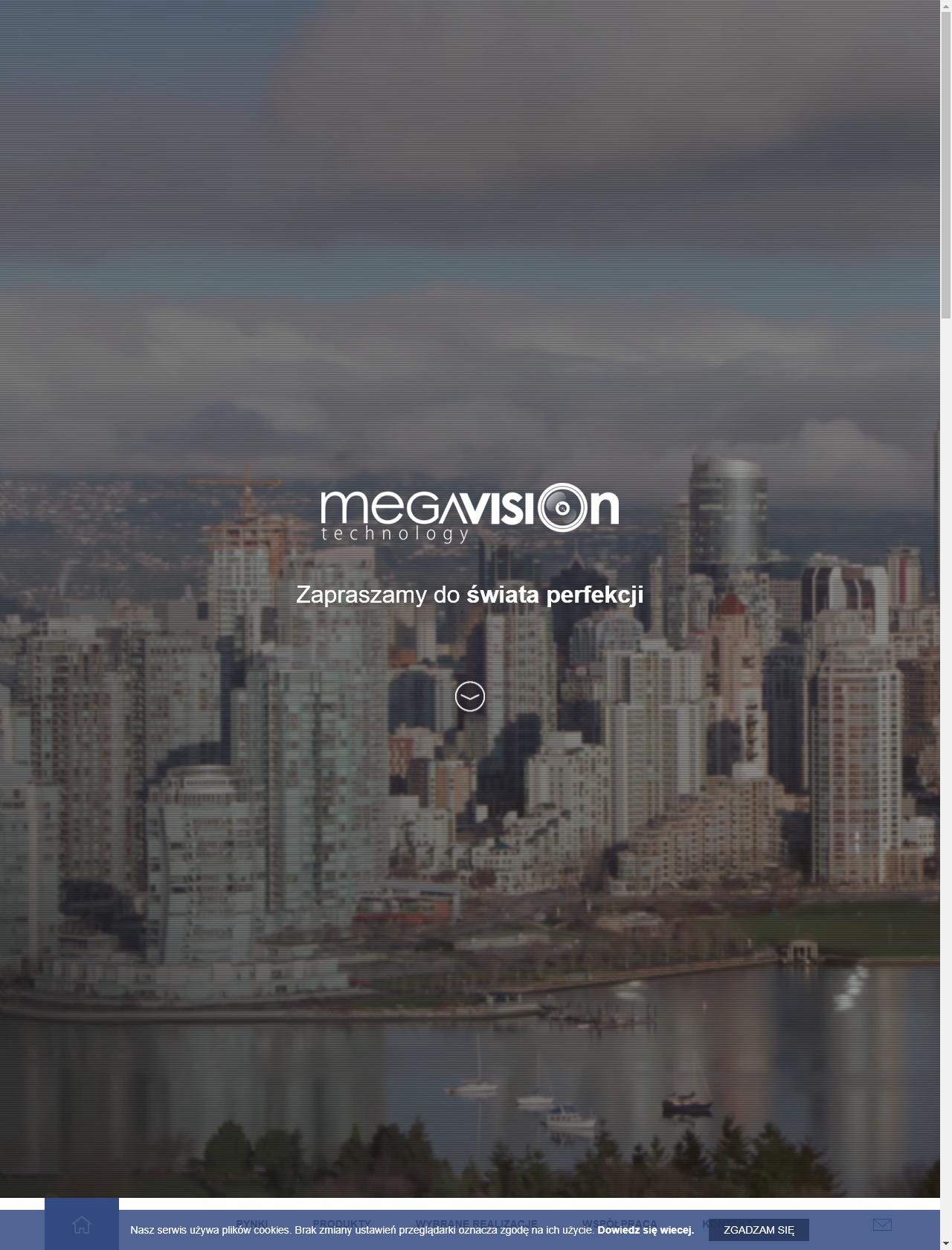 Screenshot Desktop - https://www.megavision.pl/