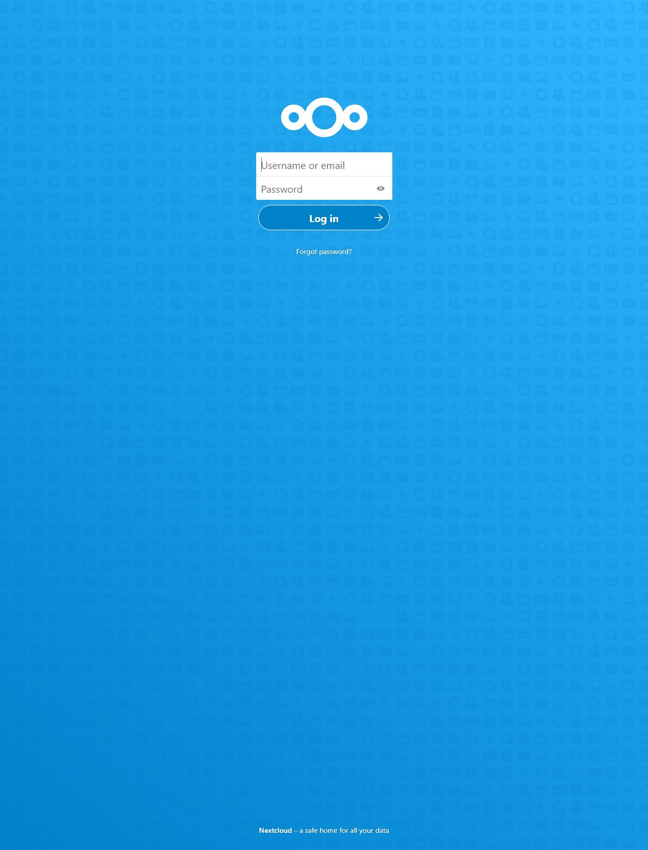 Screenshot Desktop - https://nextcloud.emiestelvpn.duckdns.org/login