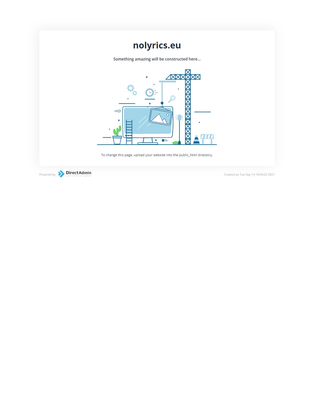Screenshot Desktop - https://nolyrics.eu/