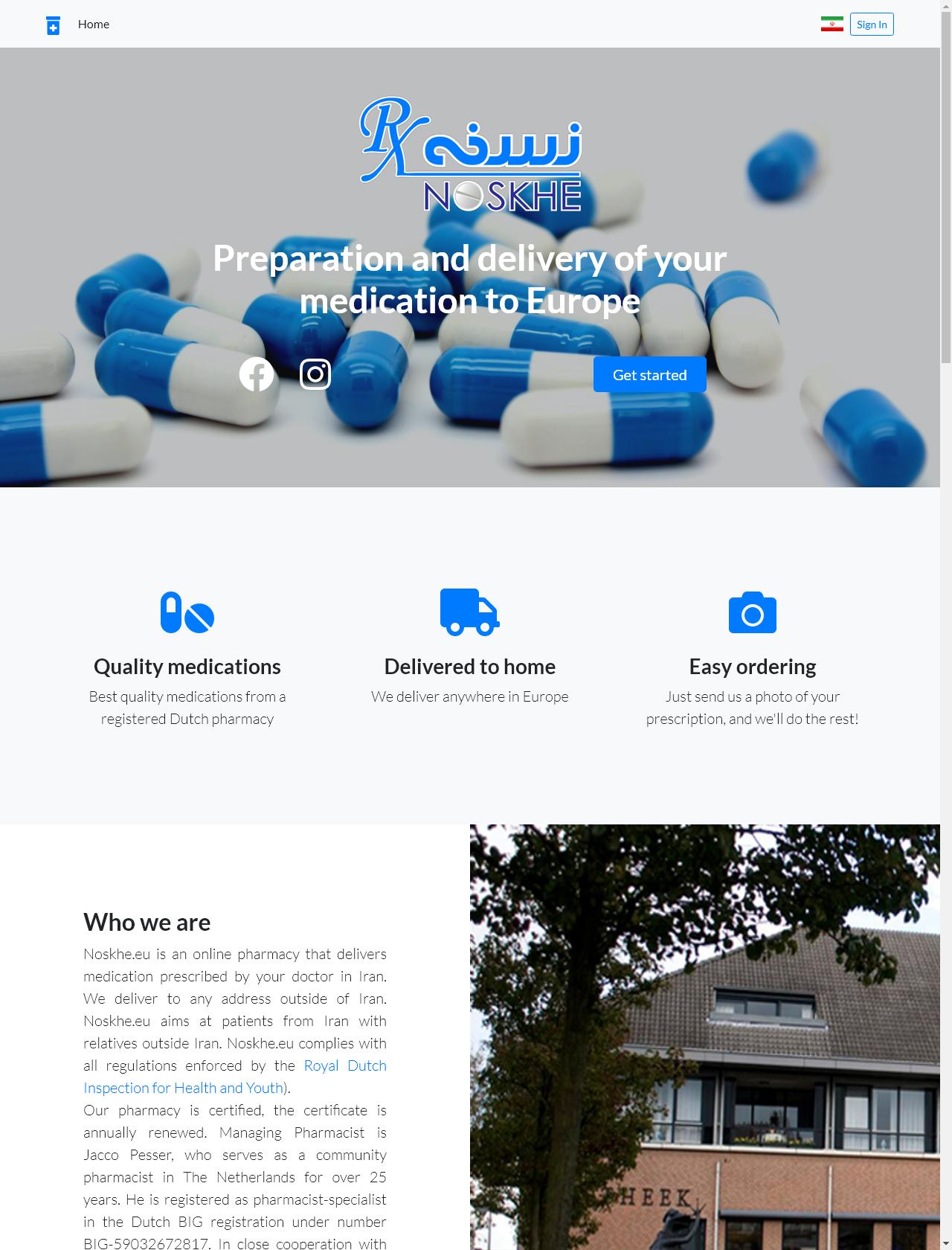 Screenshot Desktop - https://www.noskhe.eu/