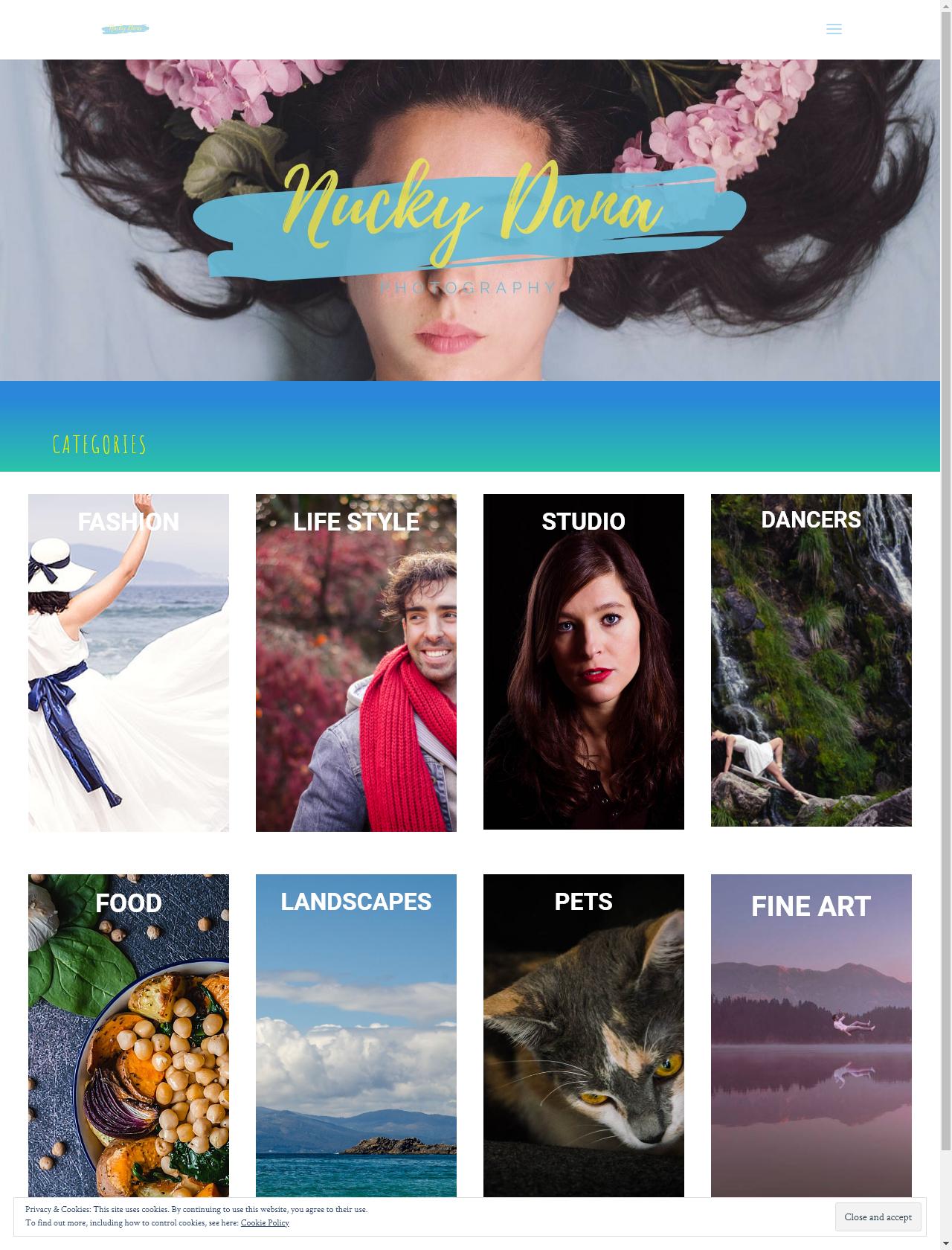 Screenshot Desktop - https://nuckydanaphotography.com/en/home/
