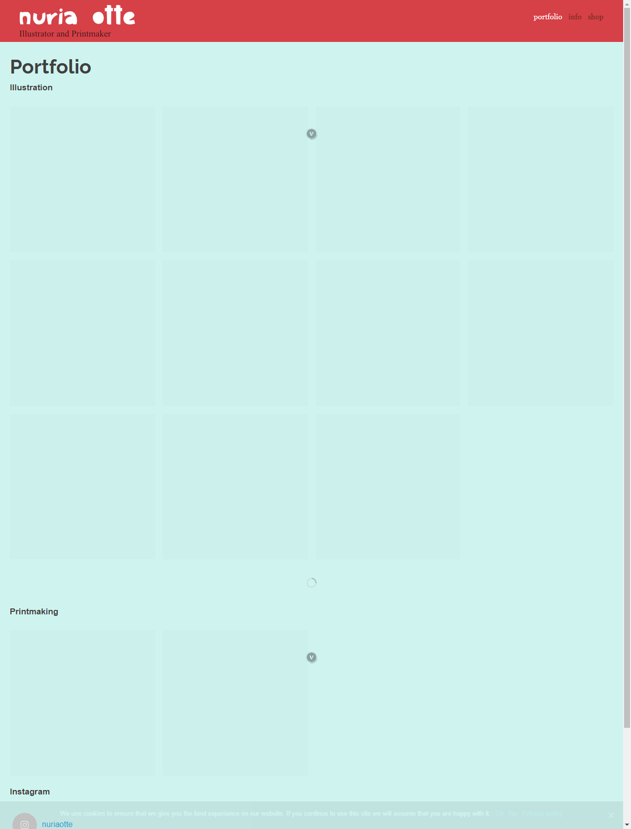 Screenshot Desktop - https://nuriaotte.com/