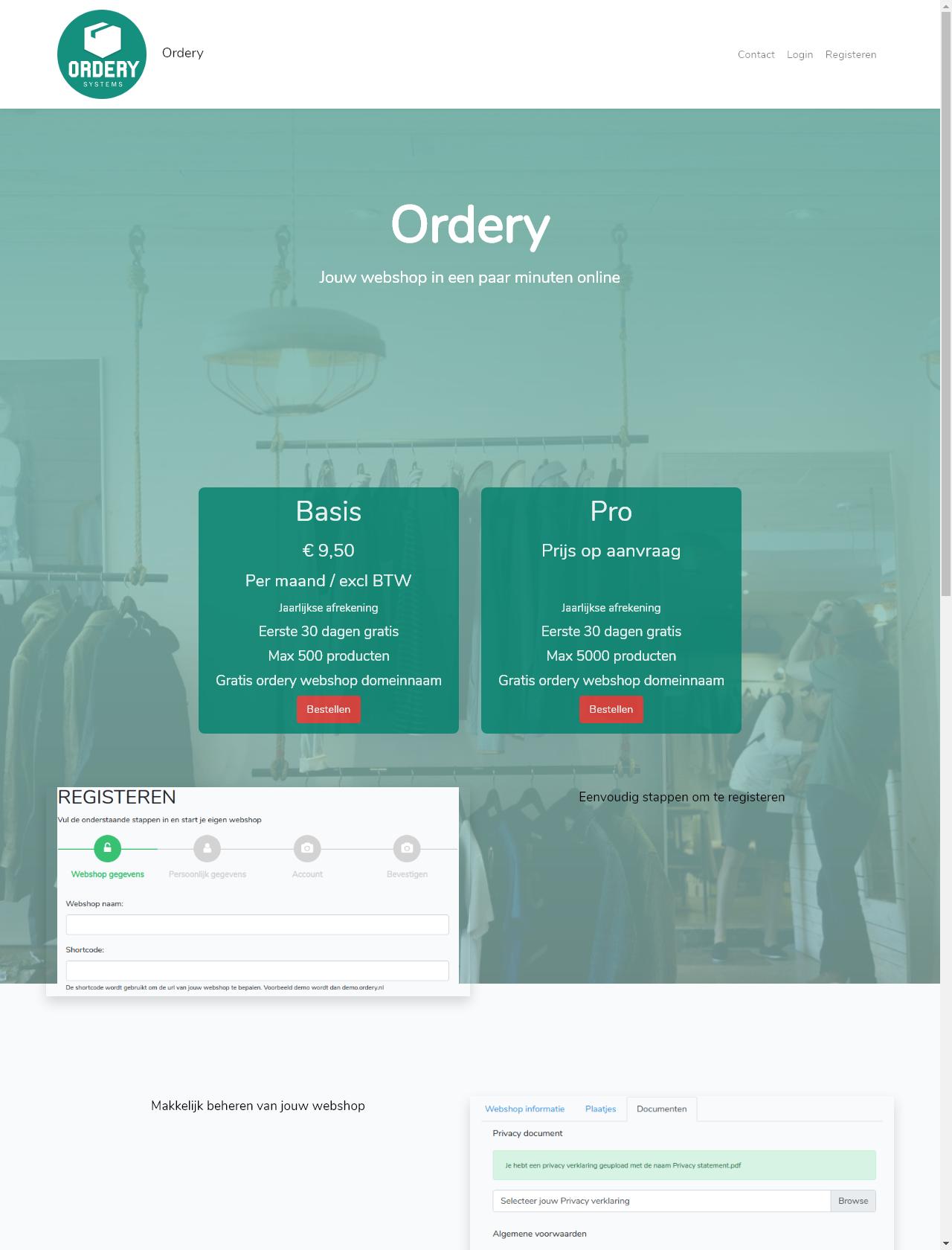 Screenshot Desktop - https://www.ordery.nl/