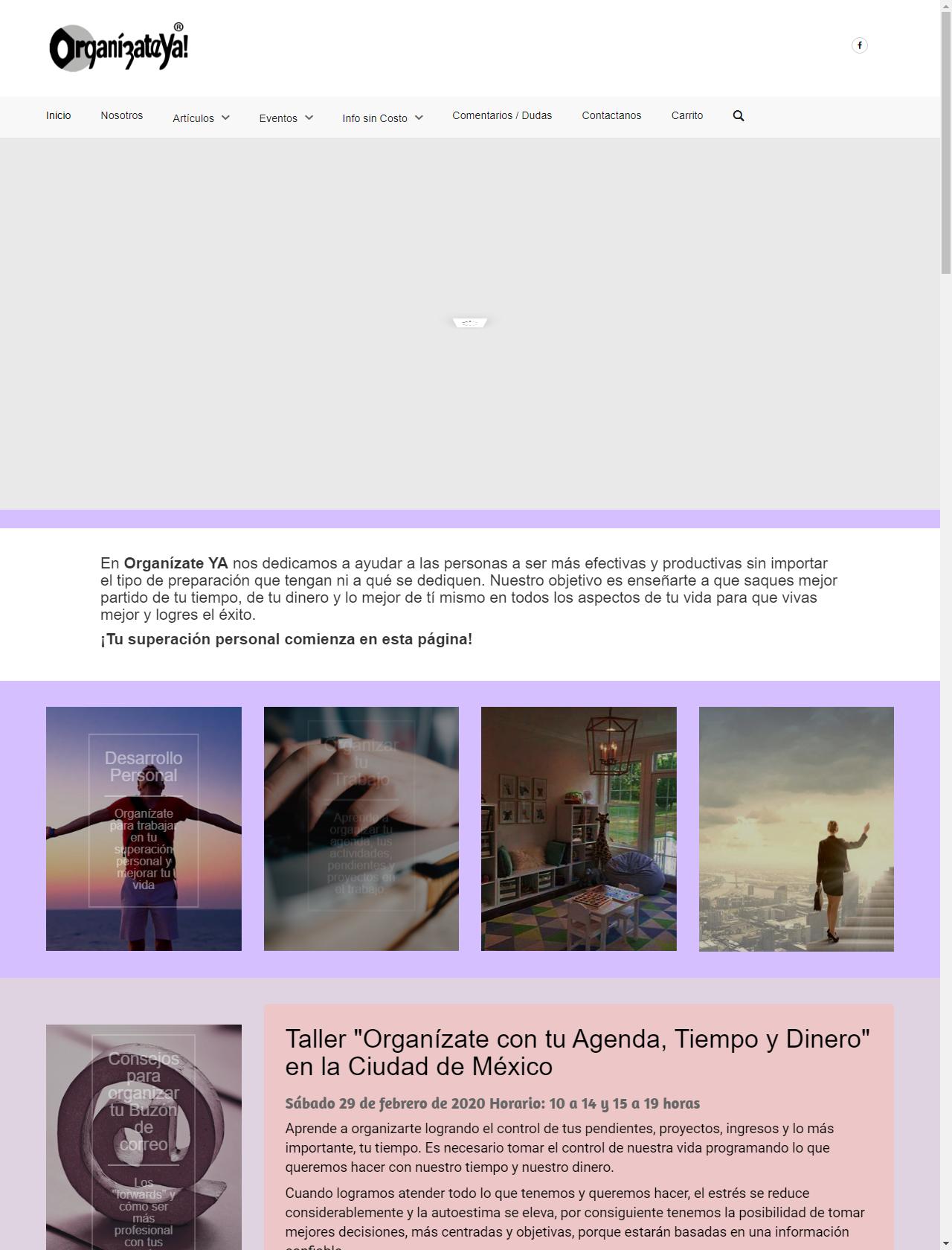 Screenshot Desktop - https://www.organizateya.com/