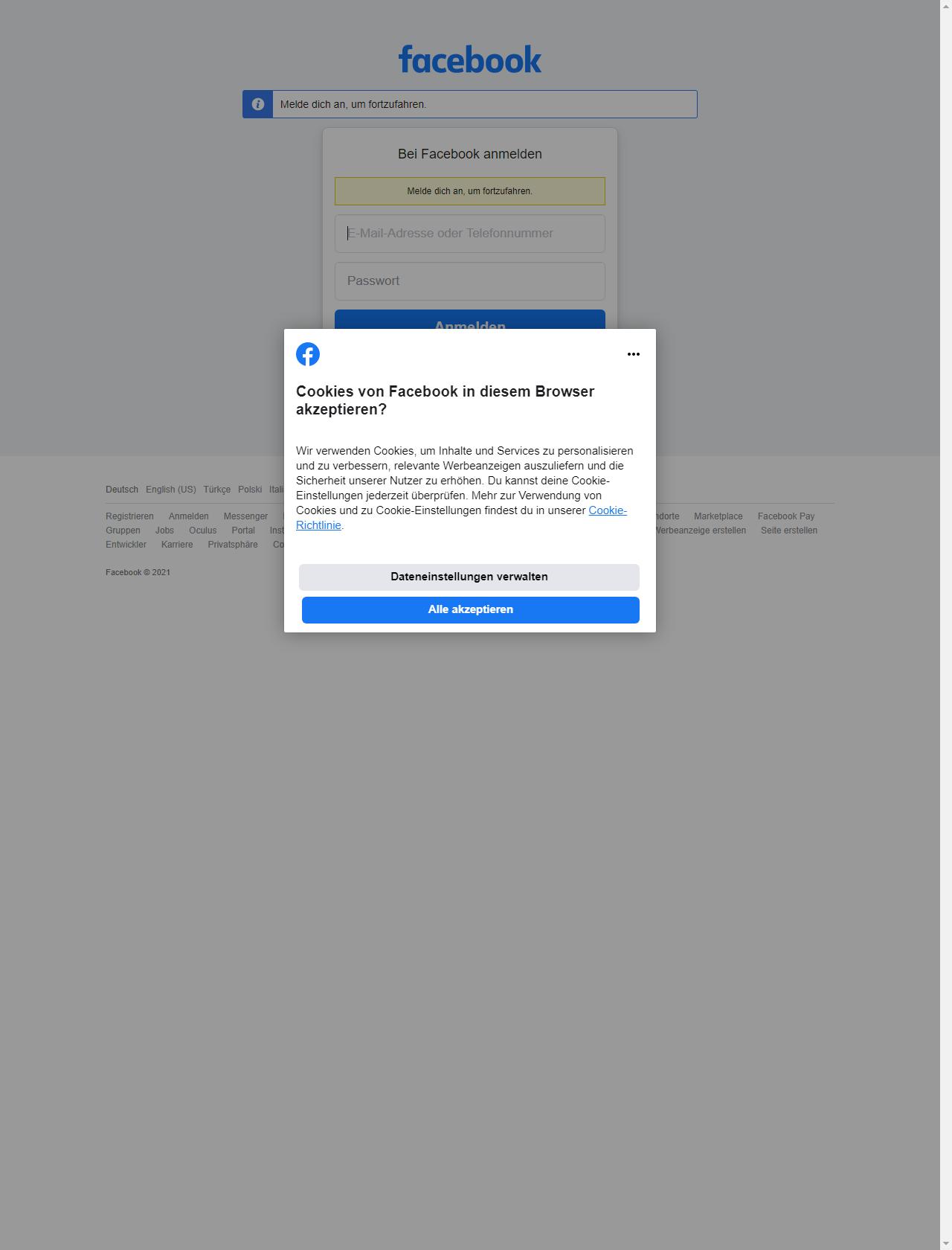 Screenshot Desktop - https://www.facebook.com/login/?next=https%3A%2F%2Fwww.facebook.com%2Foticfoundation