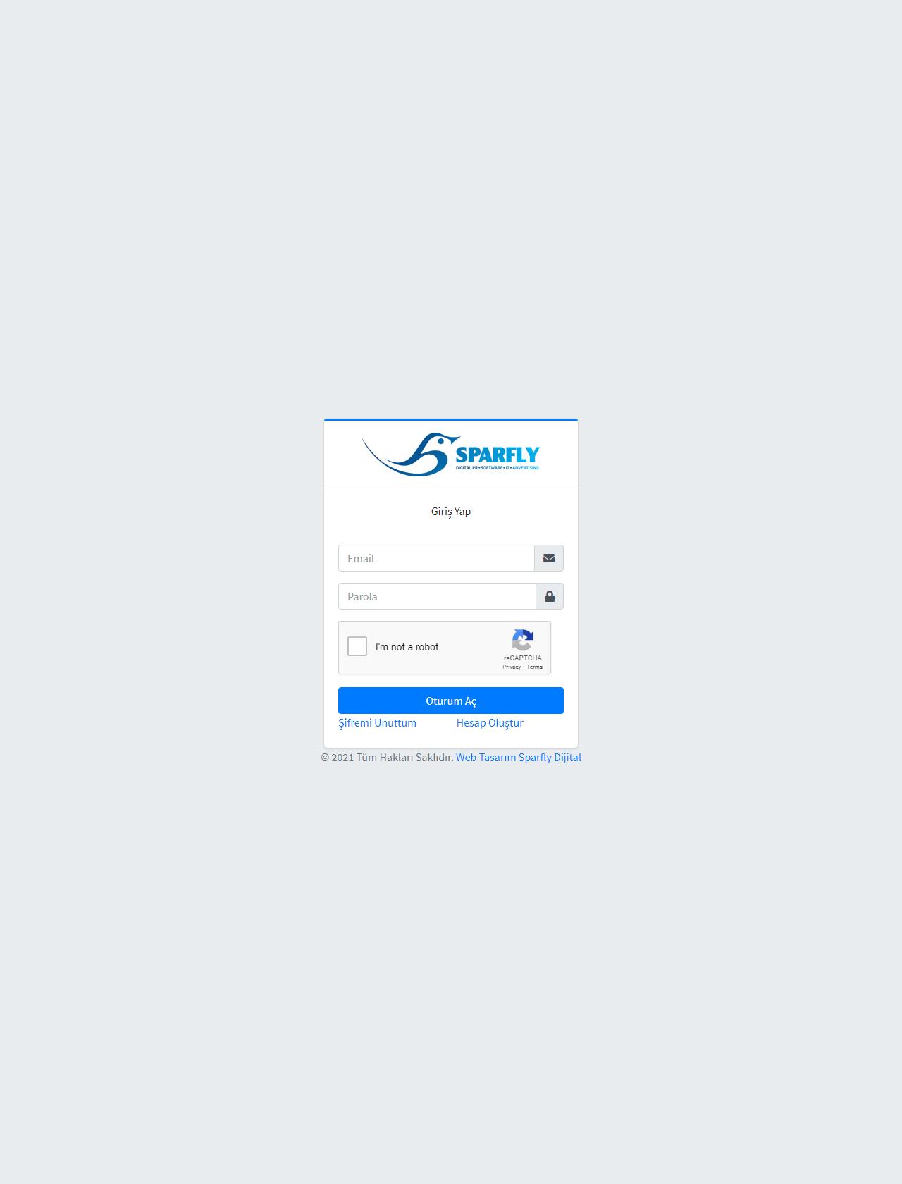 Screenshot Desktop - https://panel.sparfly.com.tr/Account/Login?ReturnUrl=%2F
