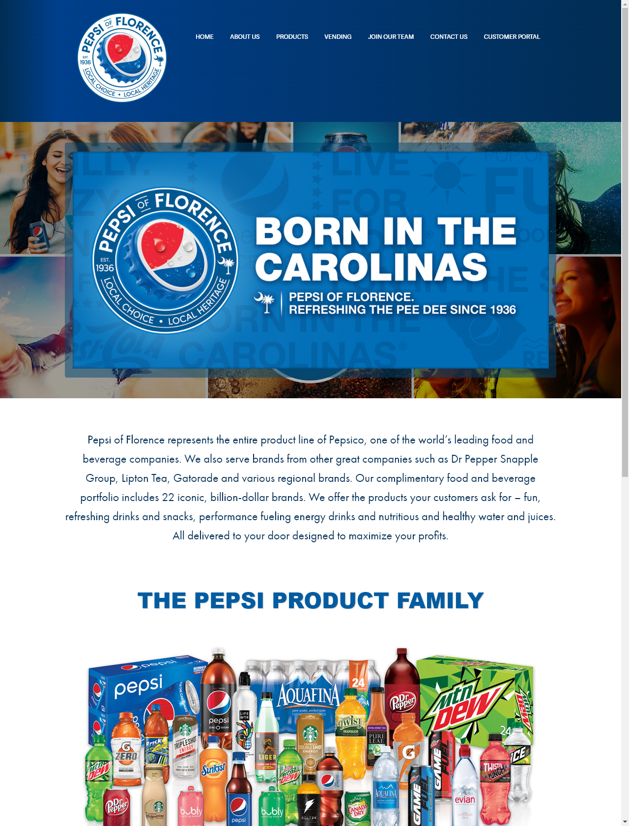 Screenshot Desktop - https://www.pepsi-florence.com/