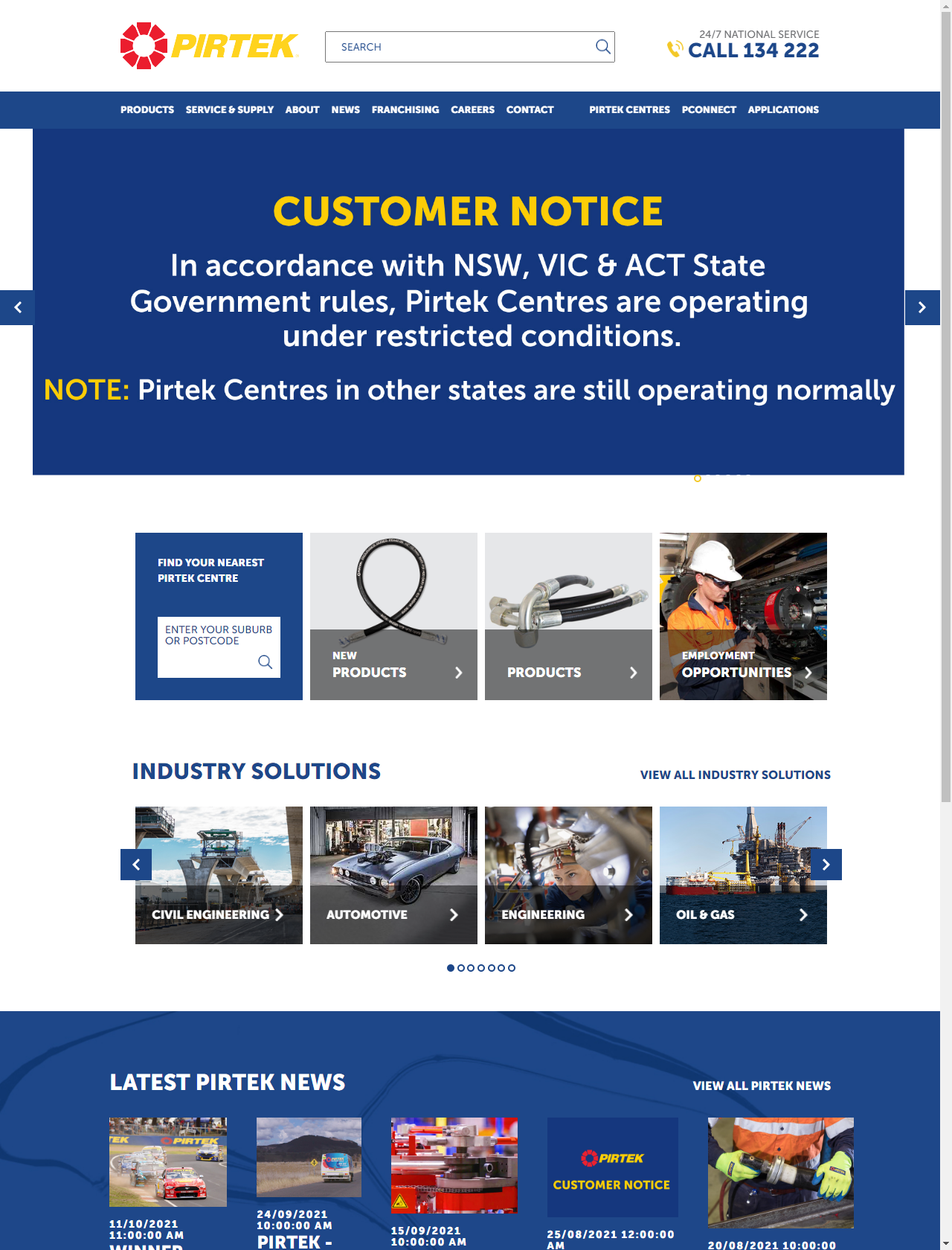 Screenshot Desktop - https://www.pirtek.com.au/
