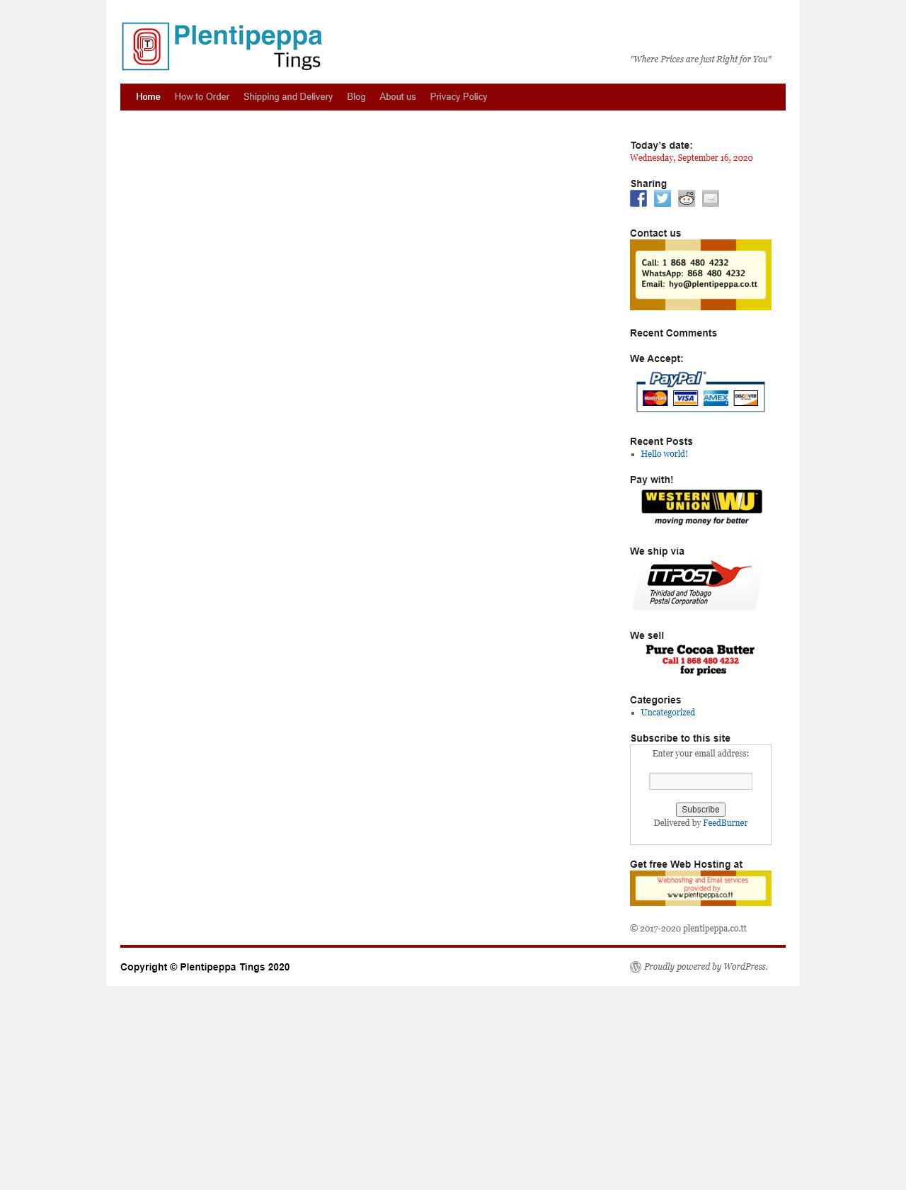 Screenshot Desktop - https://www.plentipeppa.co.tt/