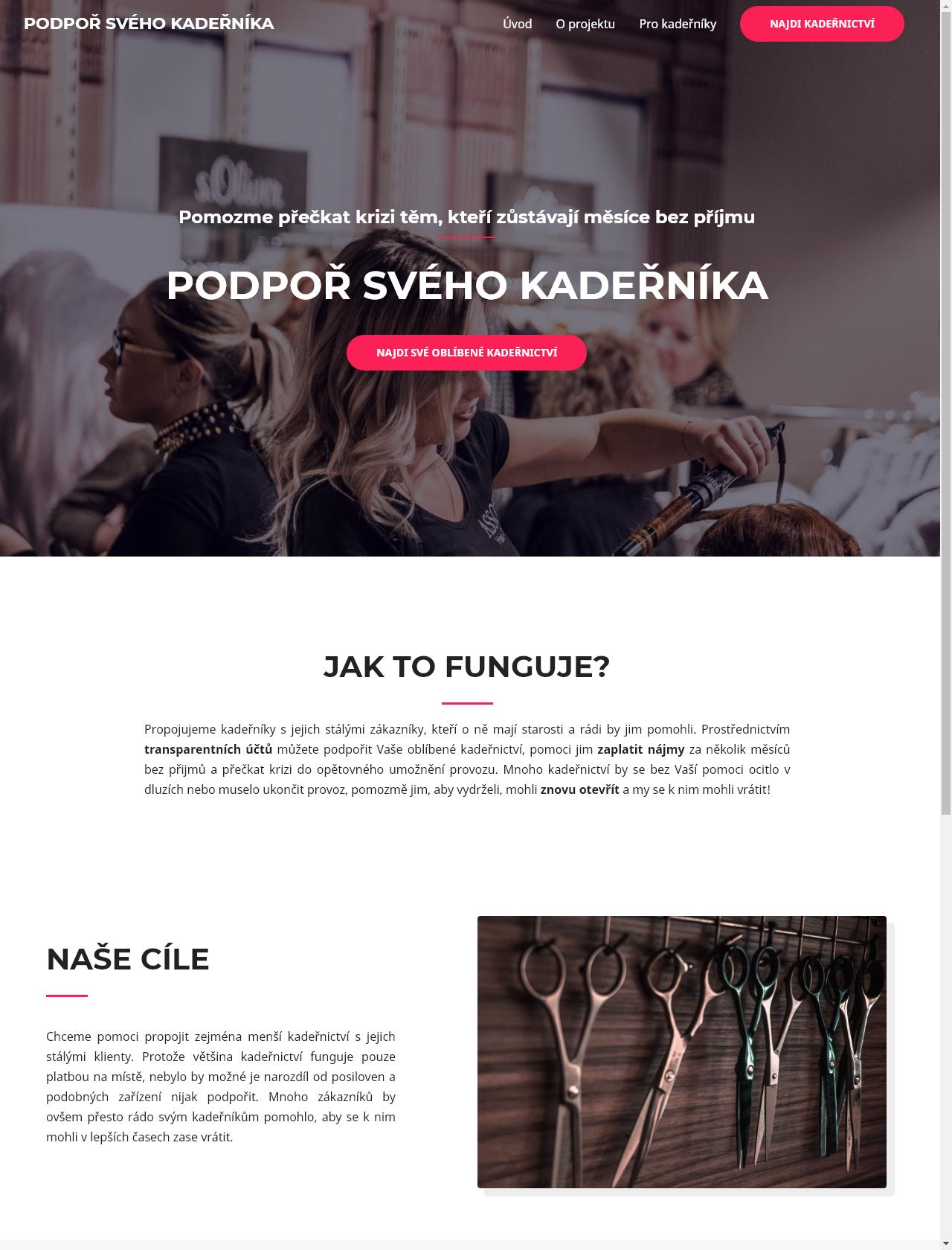 Screenshot Desktop - https://podporsvehokadernika.cz/