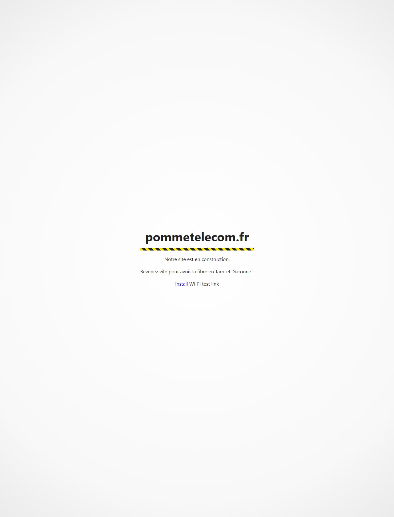 Screenshot Desktop - https://pommetelecom.fr/