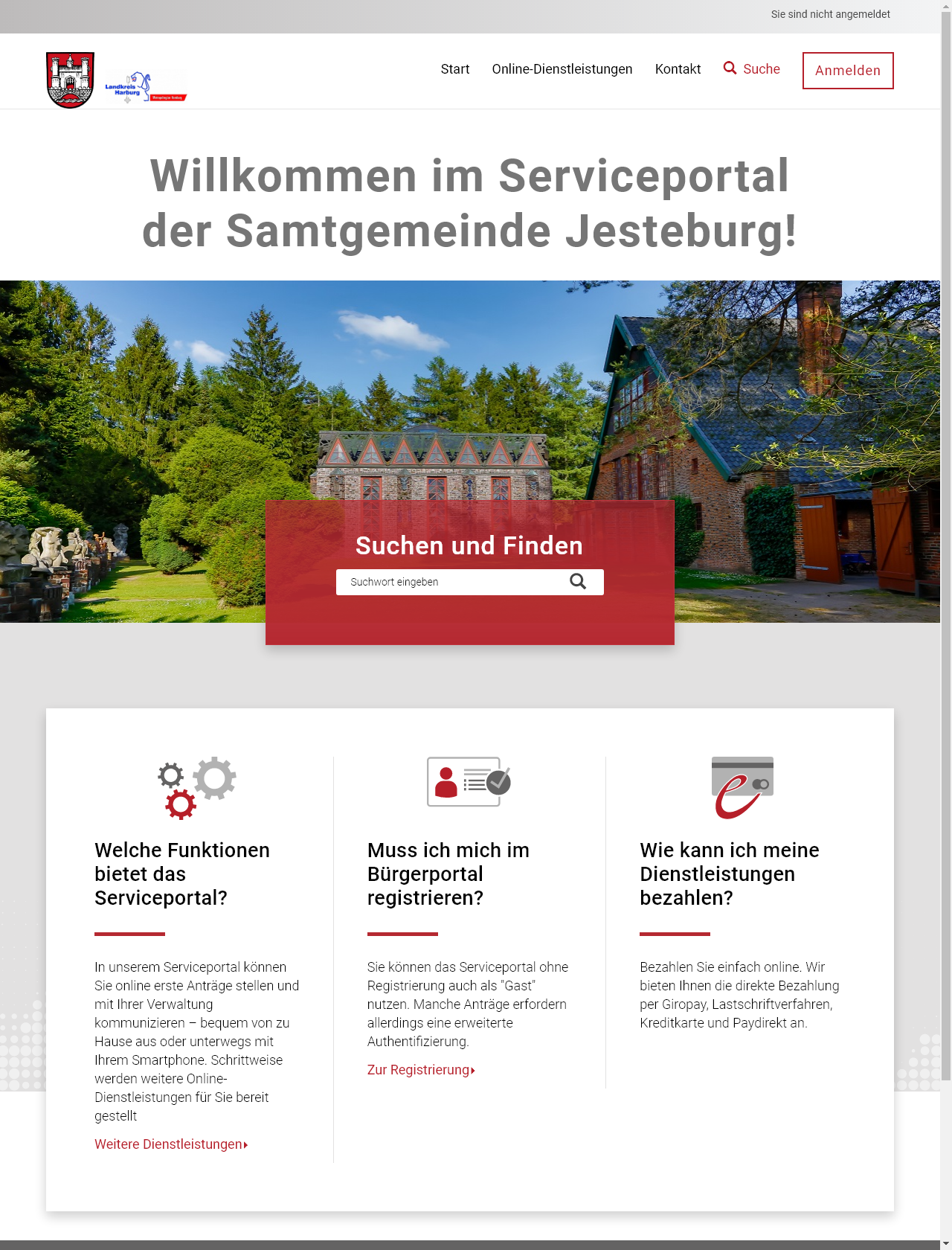 Screenshot Desktop - https://portal.jesteburg.de/