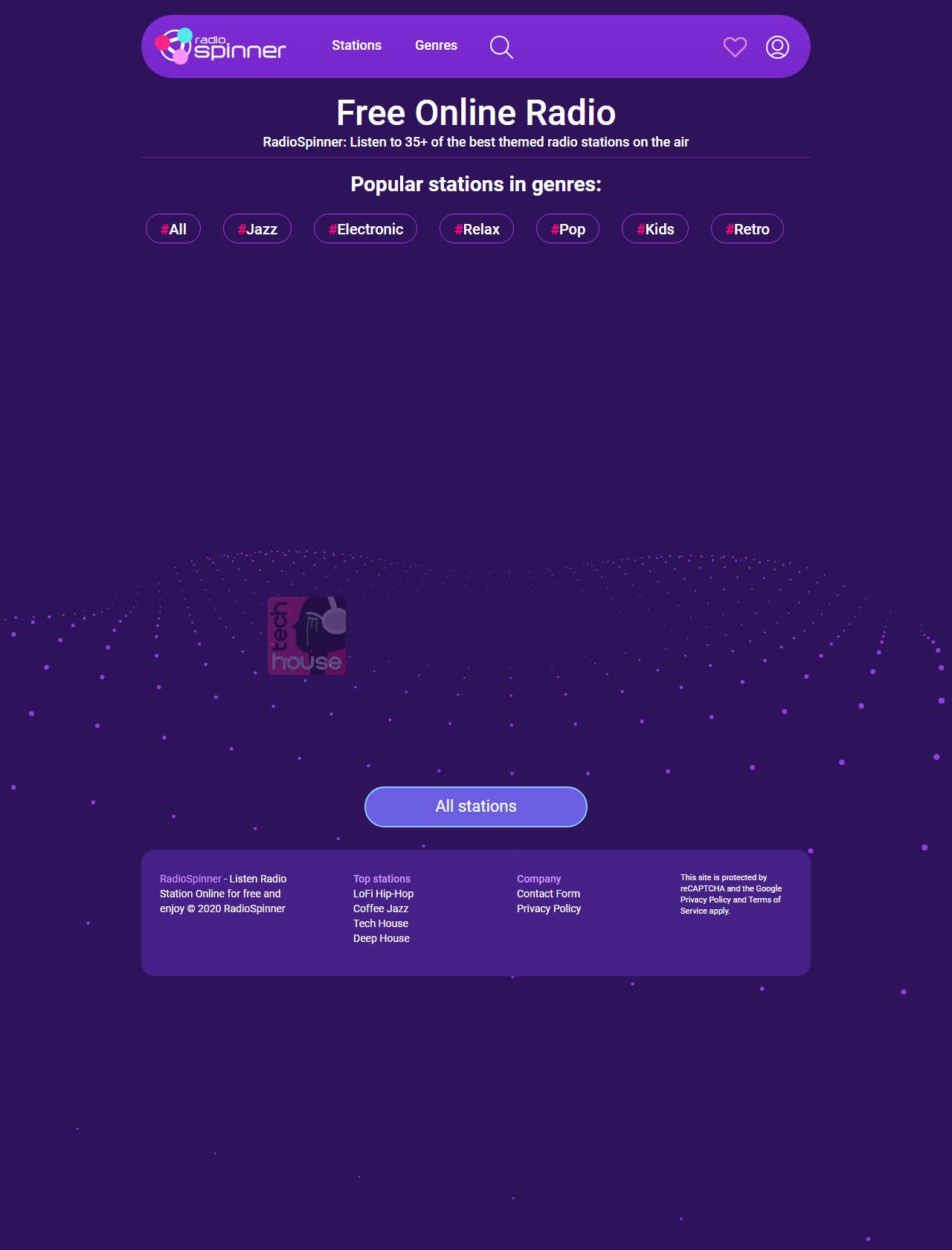 Screenshot Desktop - https://radiospinner.com/
