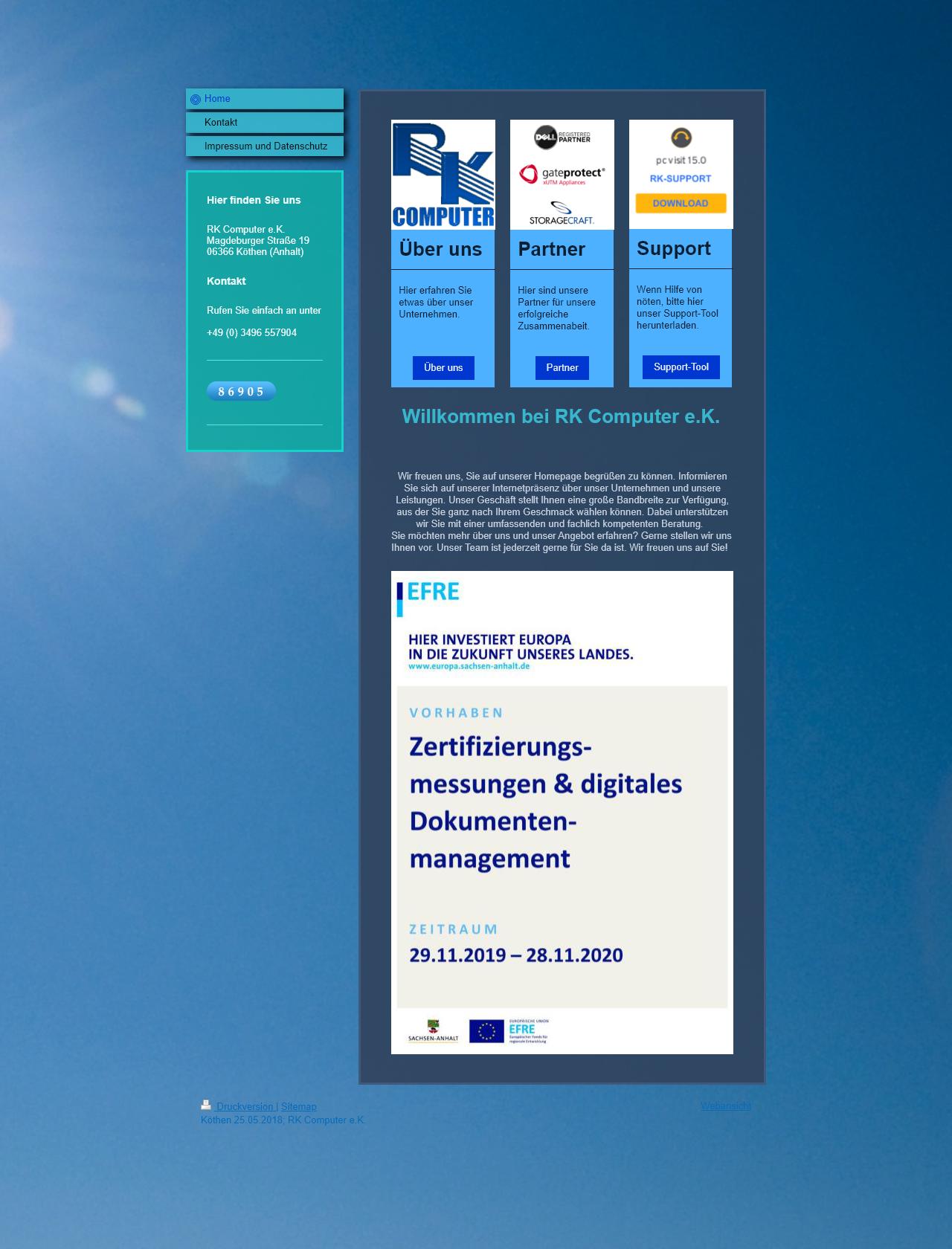 Screenshot Desktop - https://www.rk-computer.org/