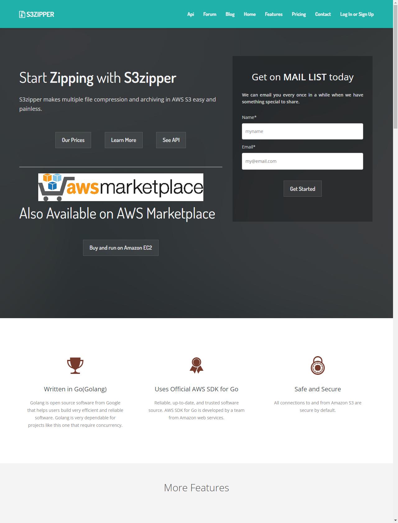 Screenshot Desktop - https://s3zipper.com/
