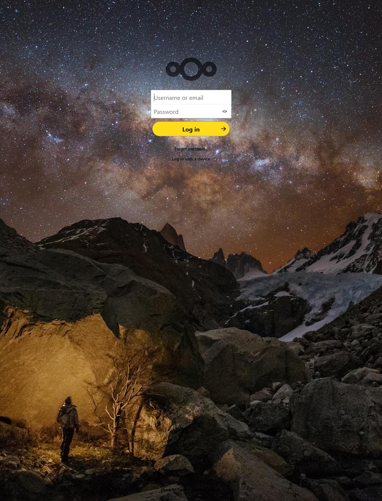 Screenshot Desktop - https://share.fp.on.at/login