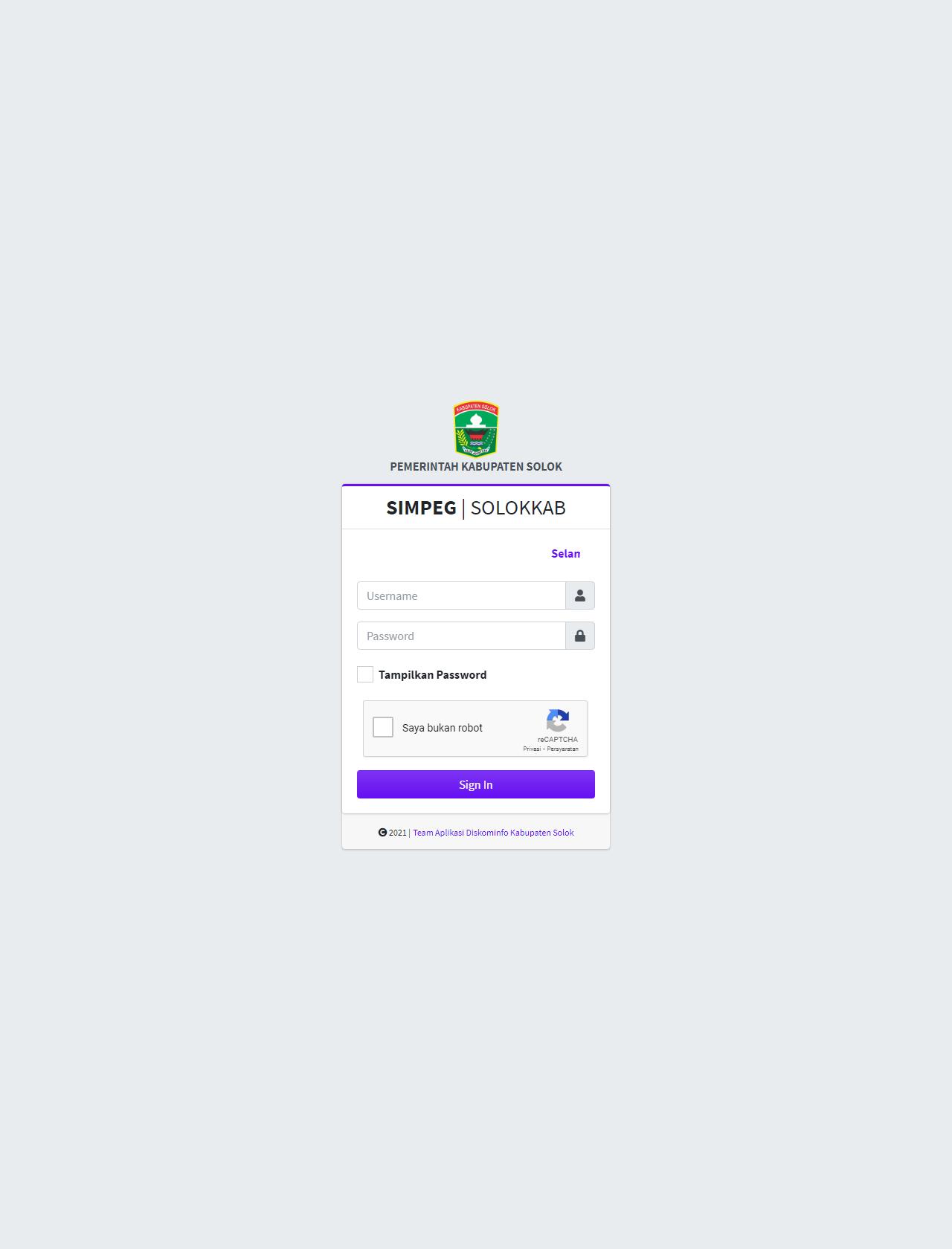Screenshot Desktop - https://simpeg.solokkab.go.id/