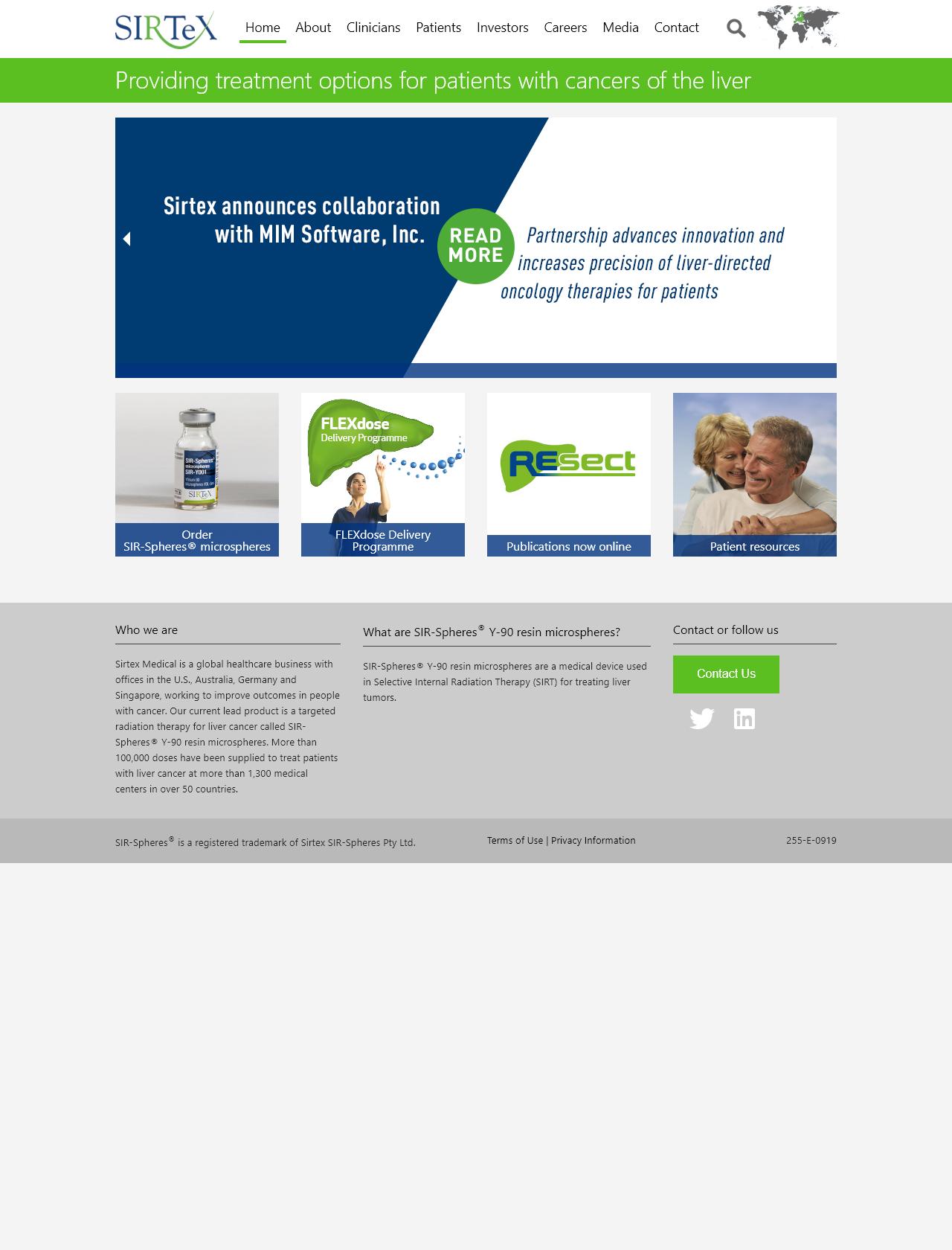 Screenshot Desktop - https://sirtex.com/de/