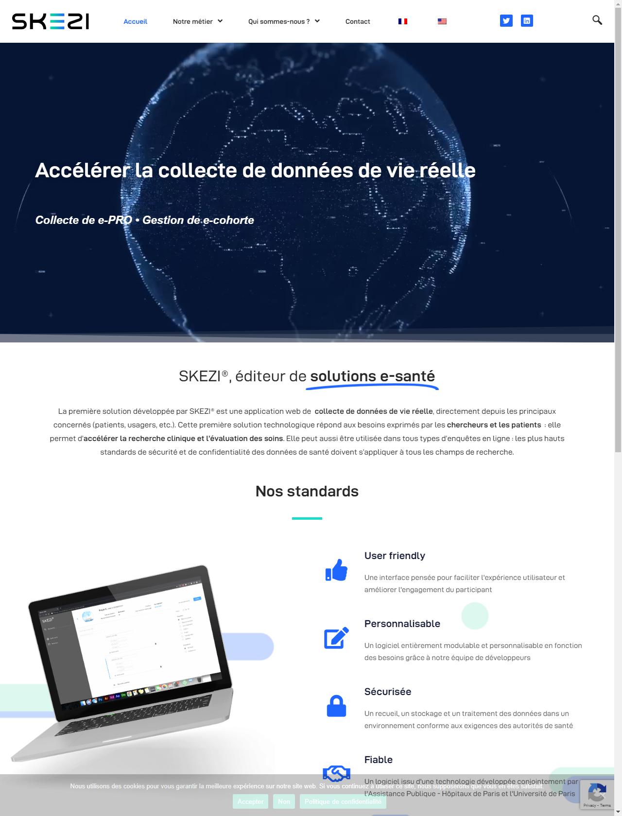 Screenshot Desktop - https://skezi.eu/