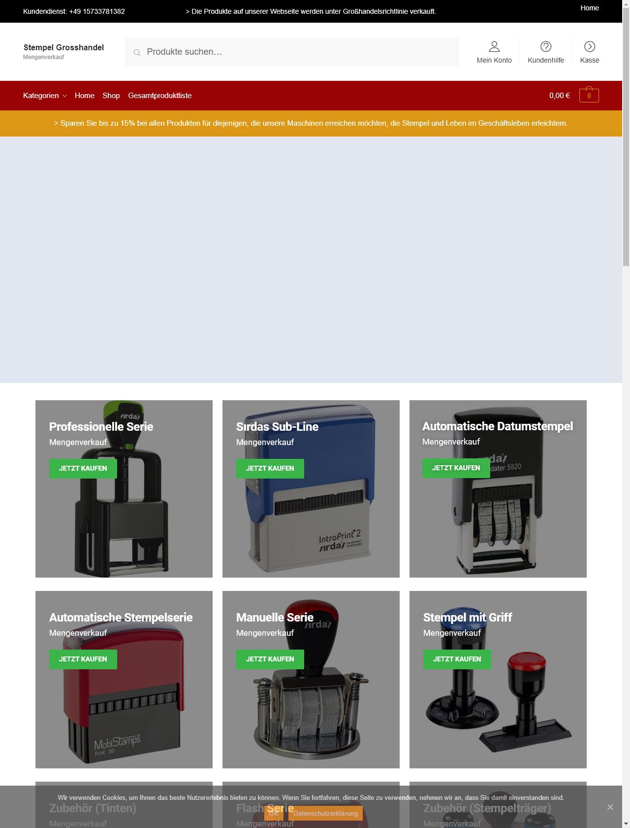 Screenshot Desktop - https://www.stempelgrosshandel.de/
