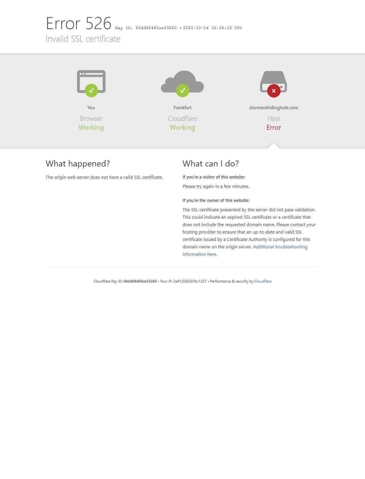 Screenshot Desktop - https://stormershidinghole.com/
