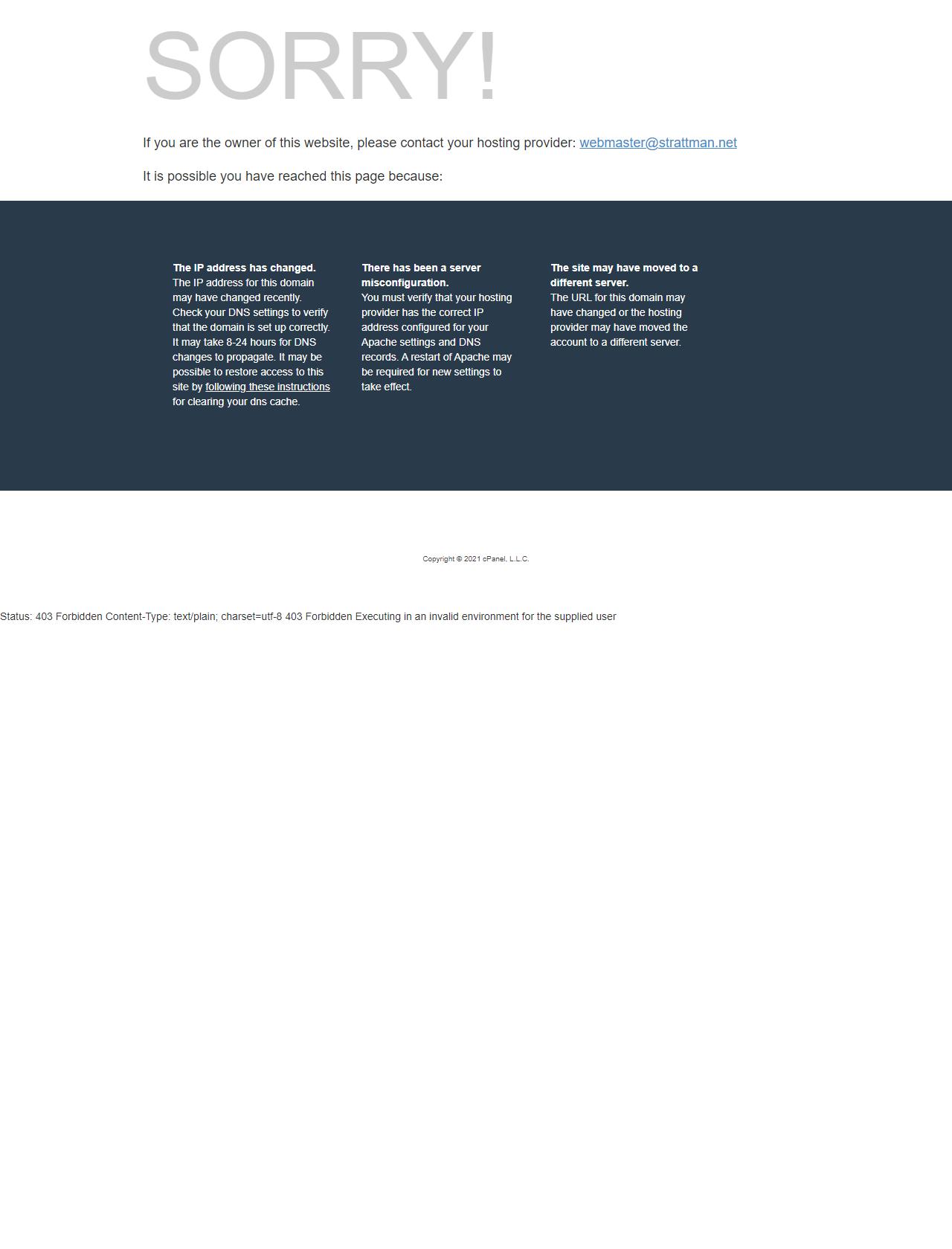 Screenshot Desktop - https://strattman.net/cgi-sys/defaultwebpage.cgi