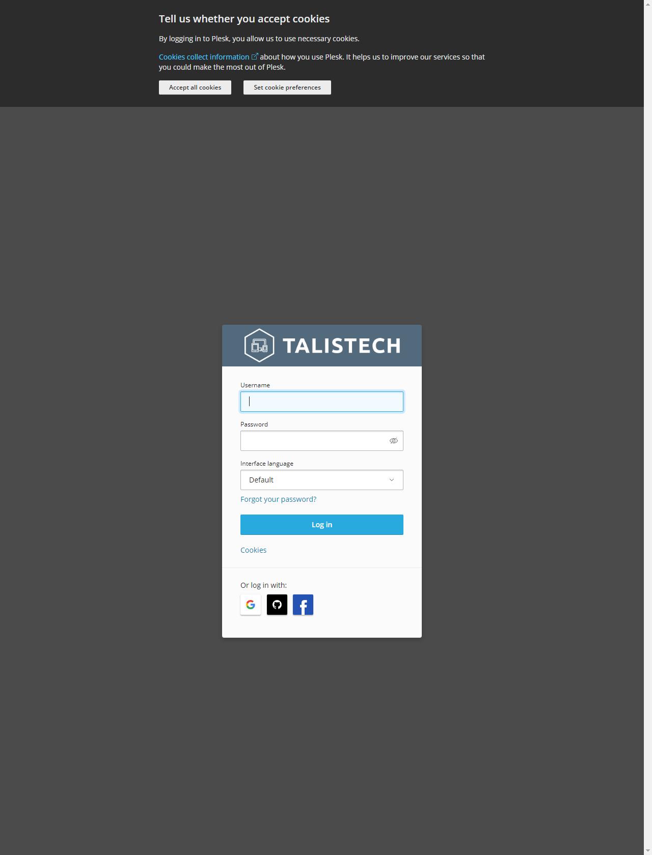 Screenshot Desktop - https://sv1.talistech.cloud/login_up.php?success_redirect_url=%2F
