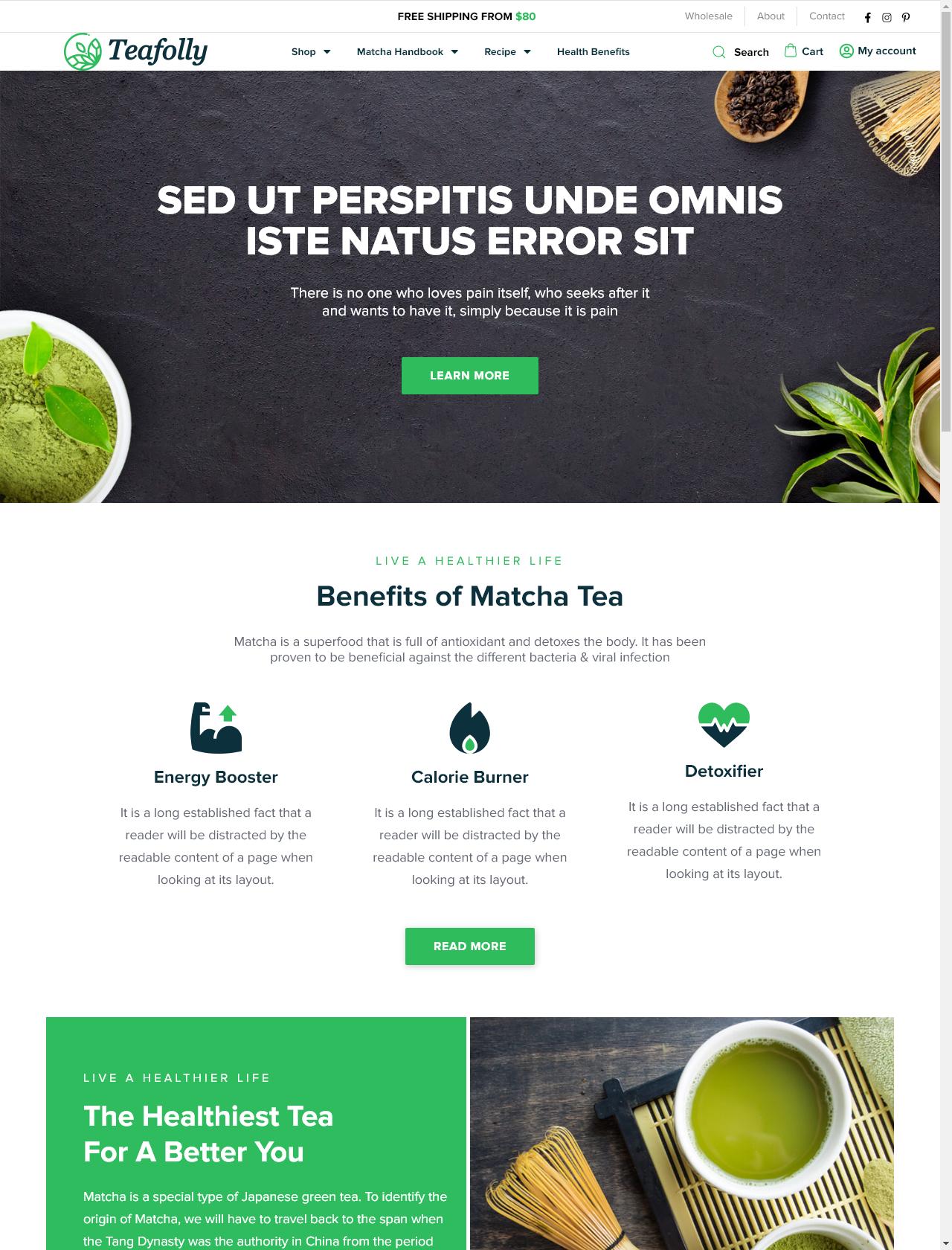 Screenshot Desktop - https://teafolly.com/