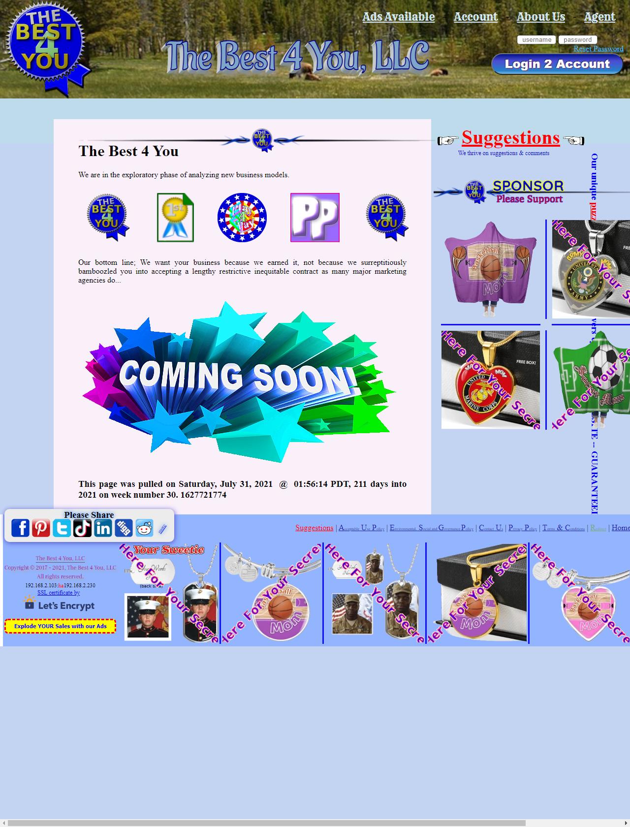 Screenshot Desktop - https://thebest4you.org/