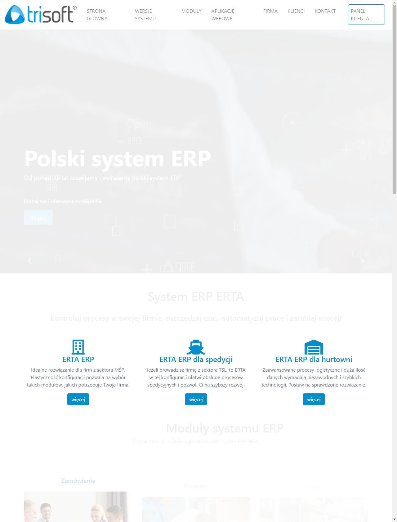 Screenshot Desktop - https://www.trisoft.com.pl/