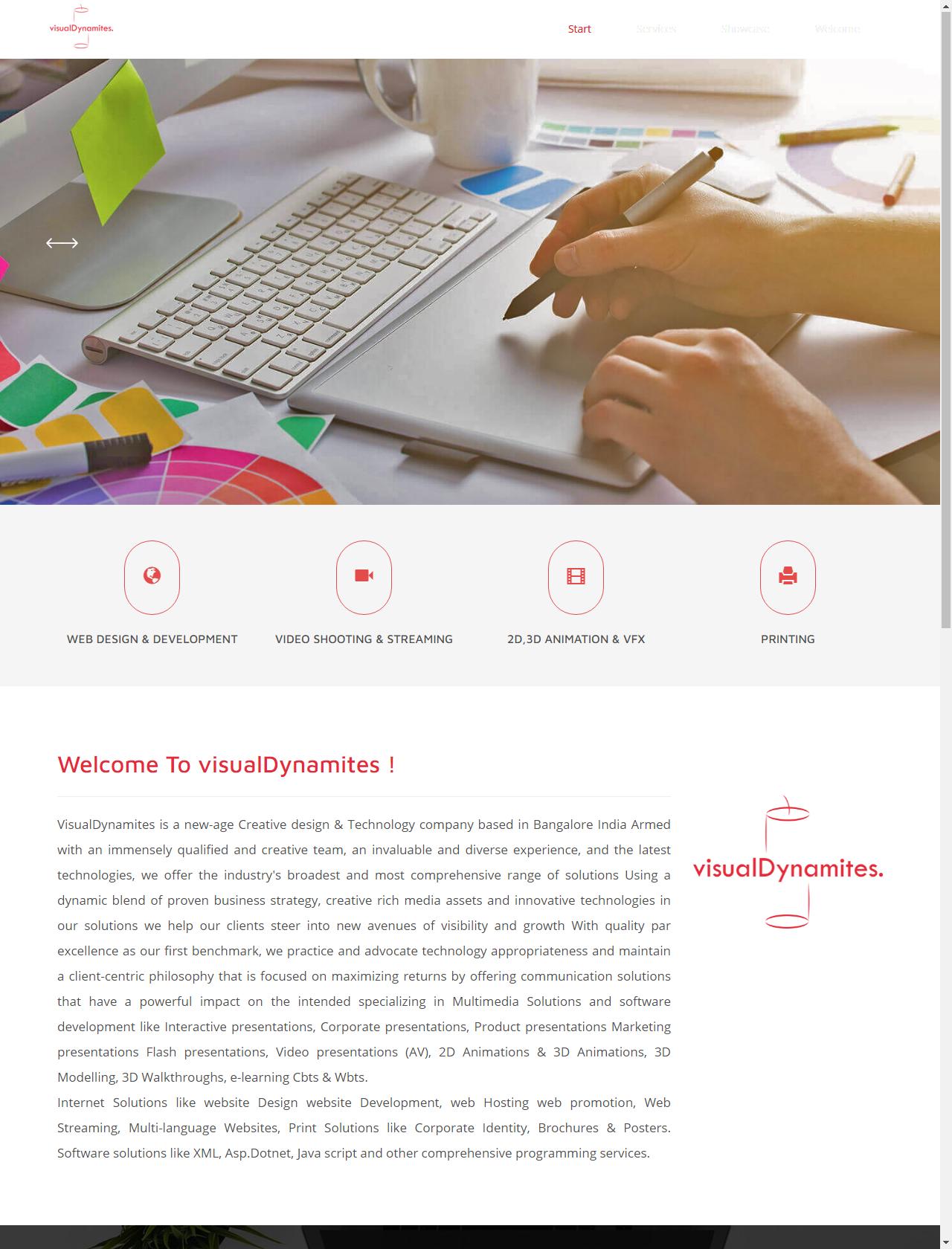 Screenshot Desktop - https://visualdynamites.com/