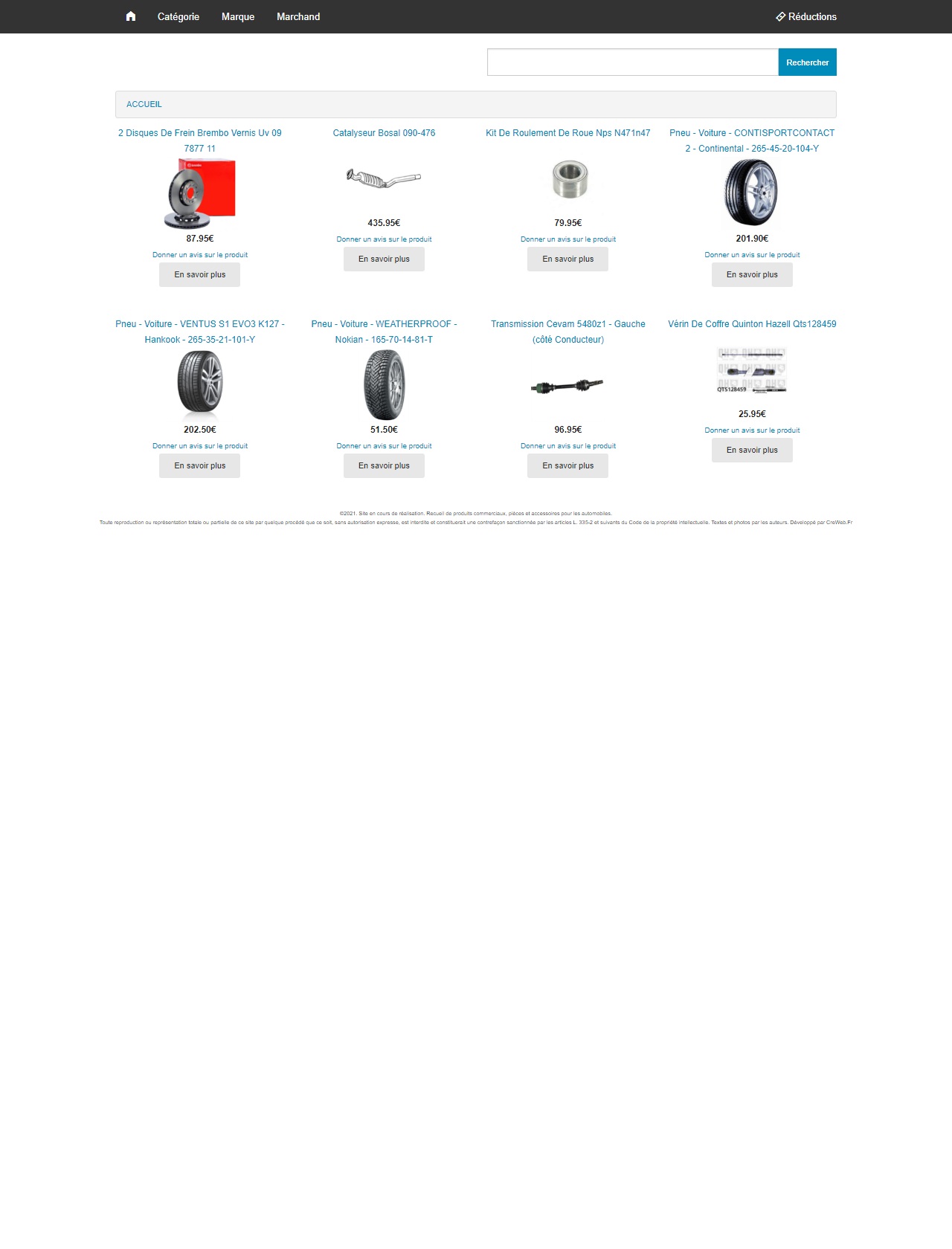 Screenshot Desktop - https://vos-pieces-auto.com/