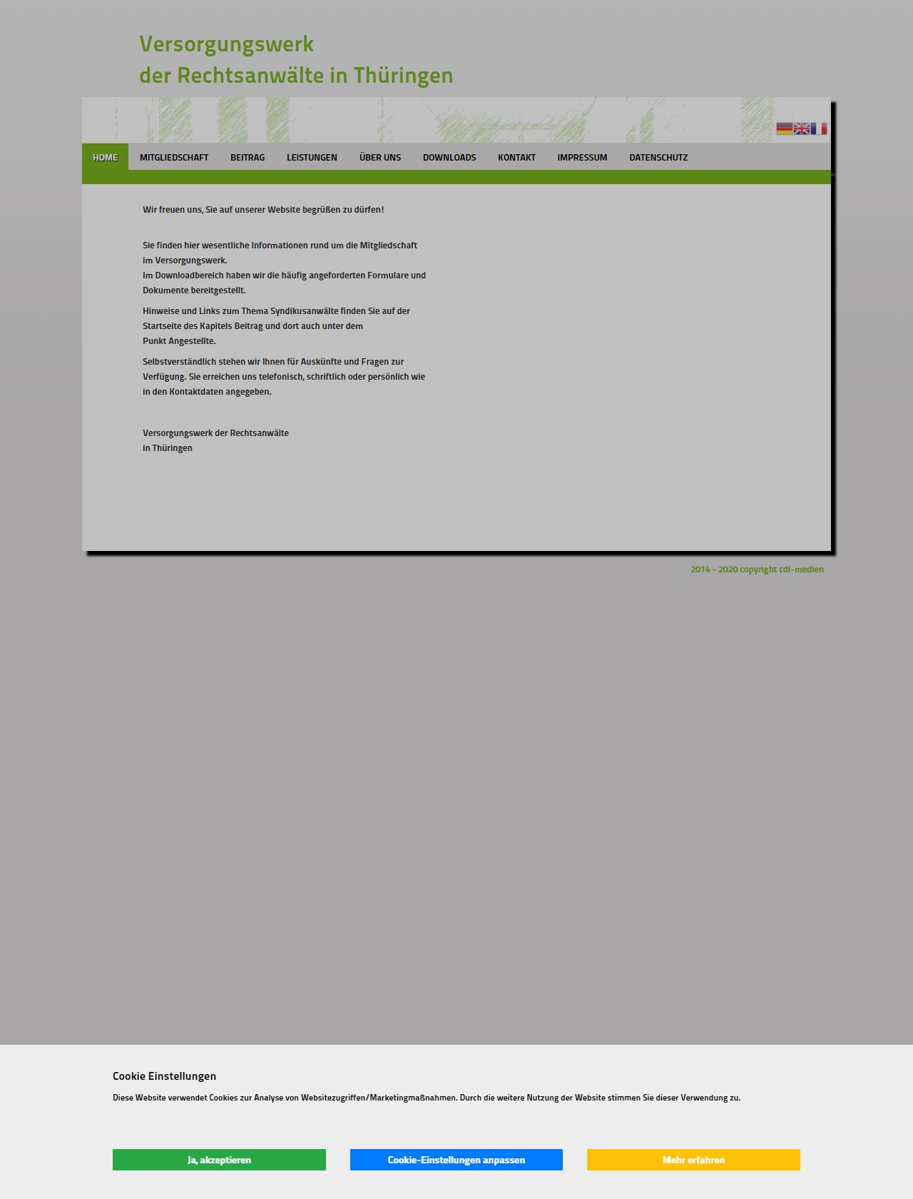 Screenshot Desktop - https://vsw-ra-th.de/