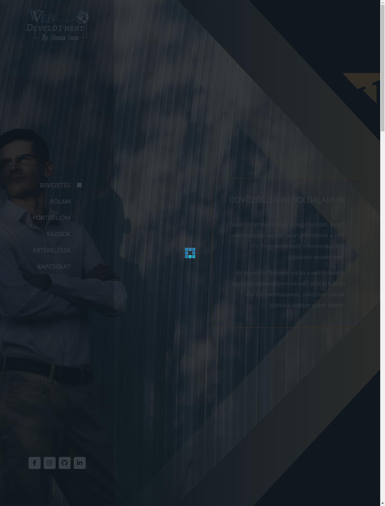 Screenshot Desktop - https://vvebfejlesztes.hu/
