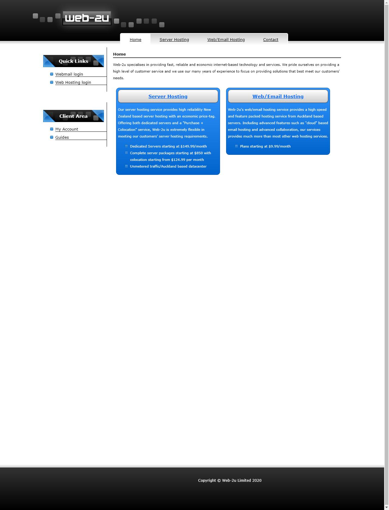 Screenshot Desktop - https://web-2u.co.nz/