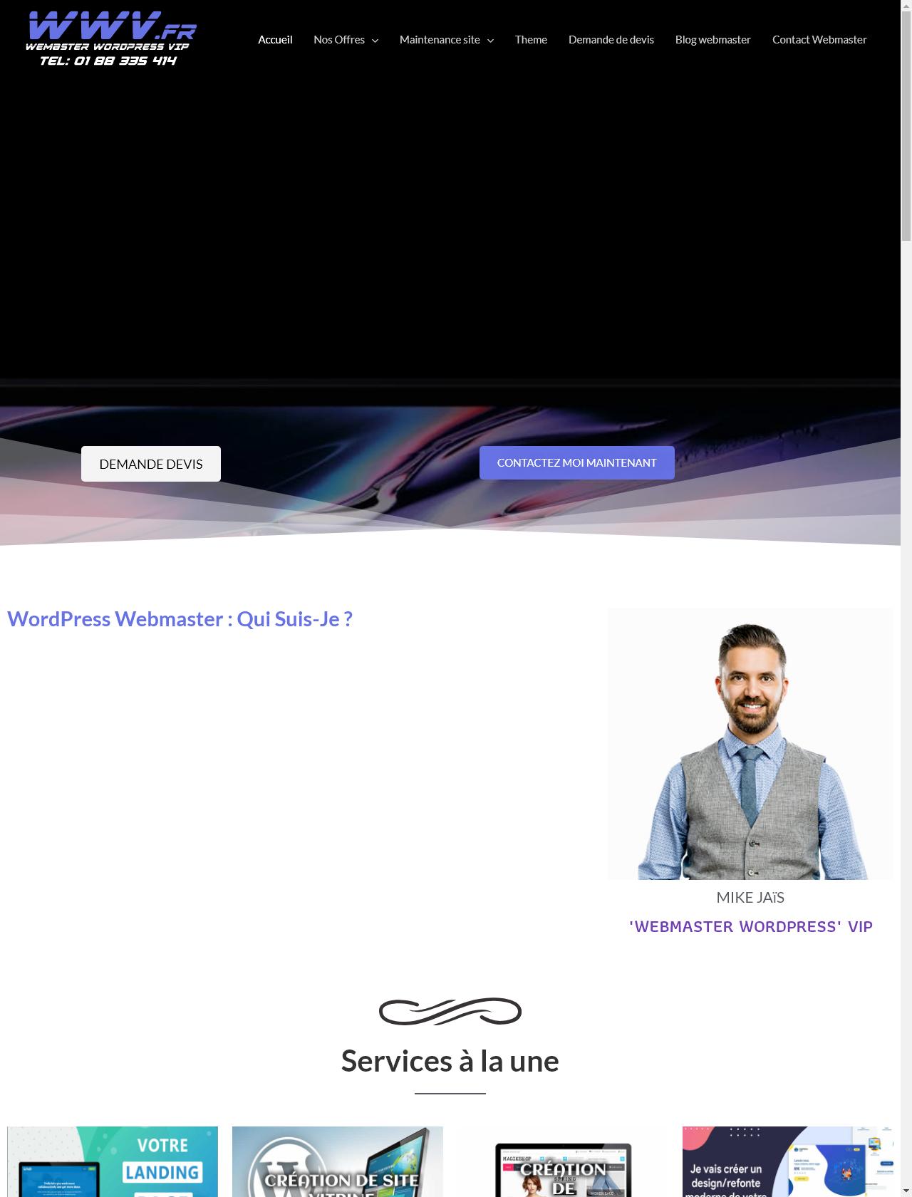 Screenshot Desktop - https://www.webmaster-wordpress.fr/
