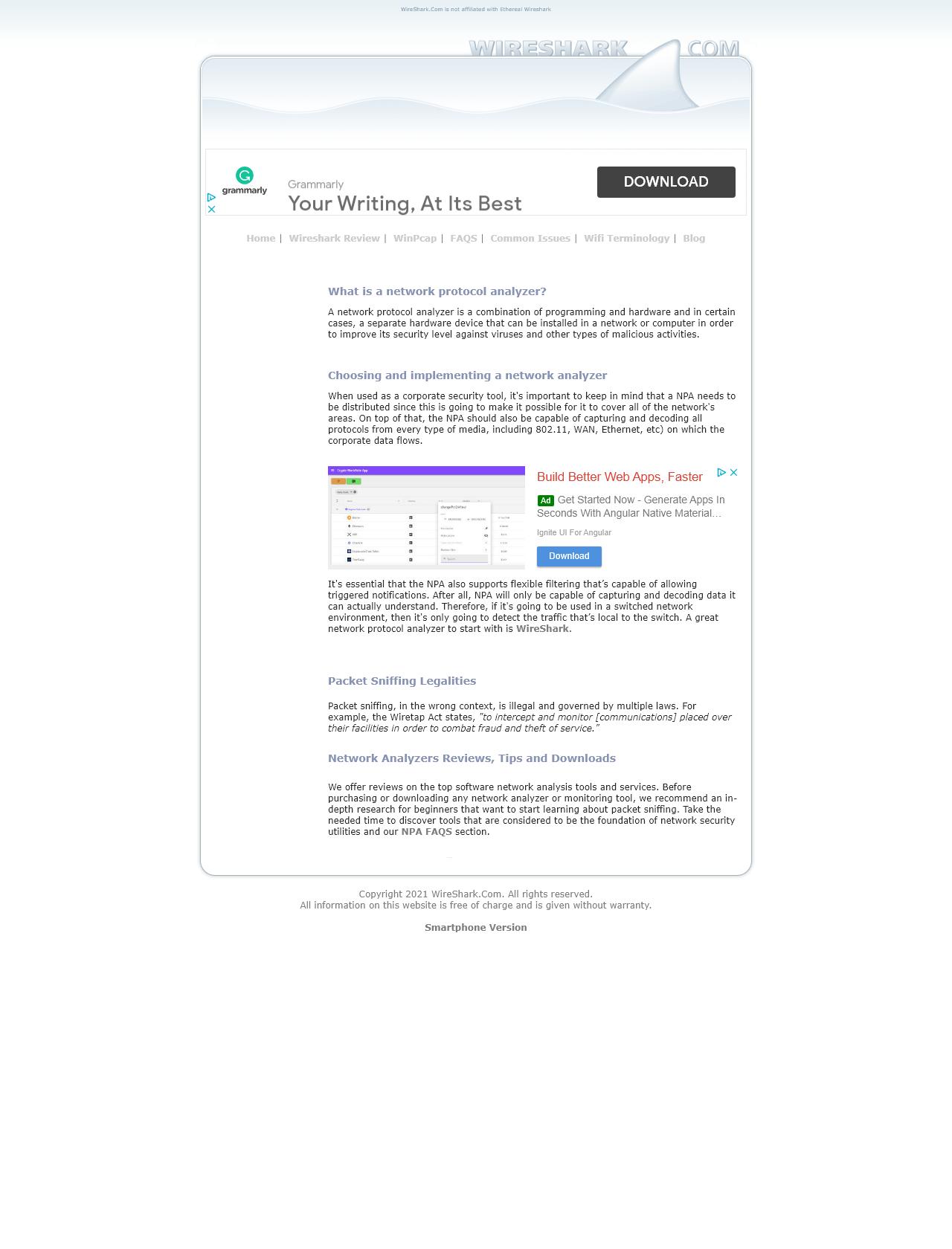 Screenshot Desktop - https://wireshark.com/