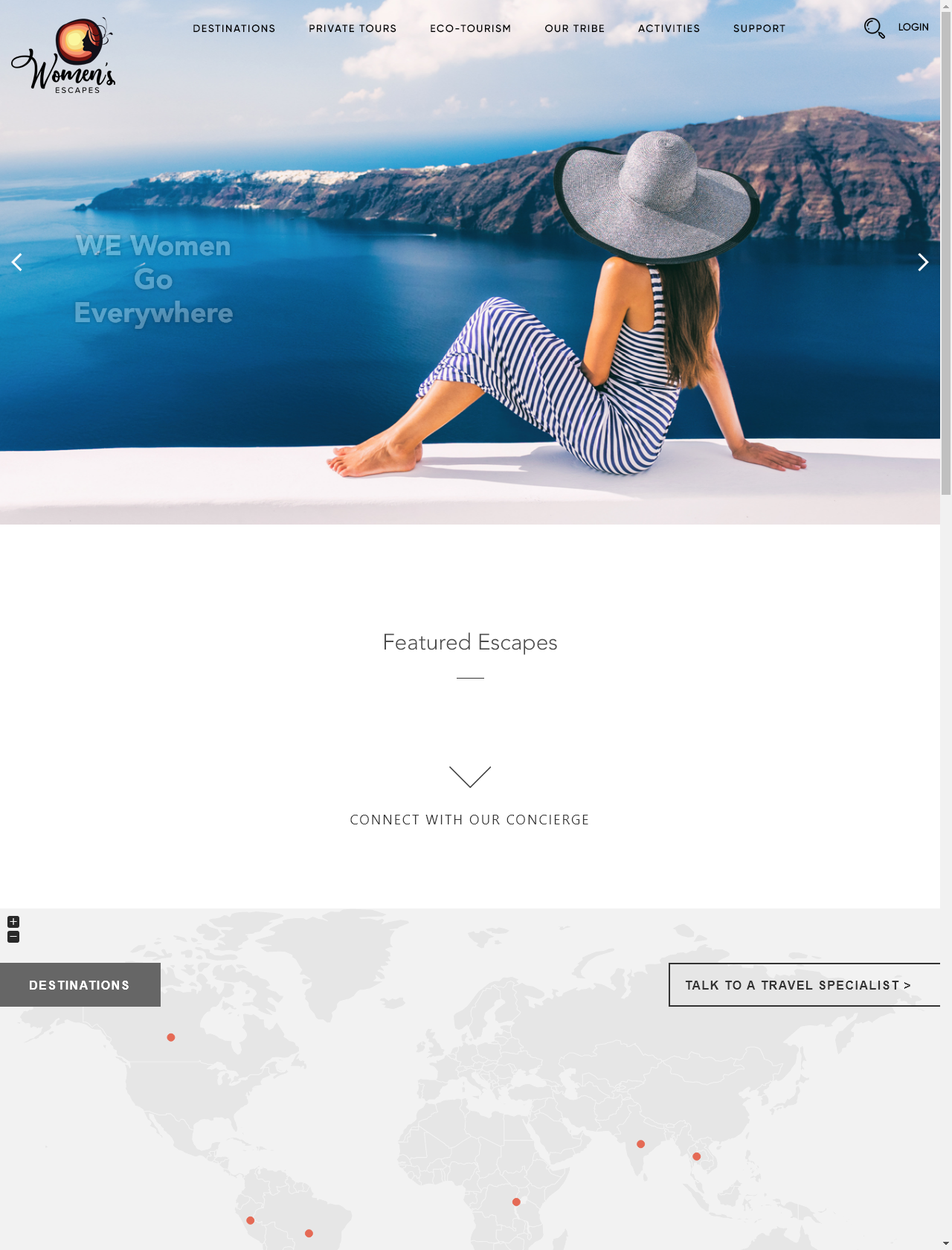 Screenshot Desktop - https://womensescapes.com/