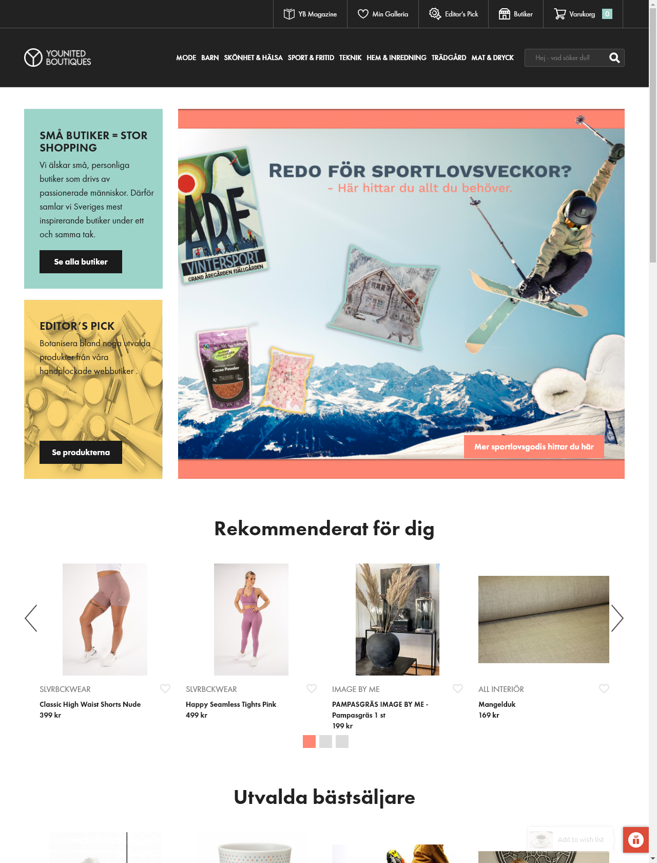 Screenshot Desktop - https://younitedboutiques.se/