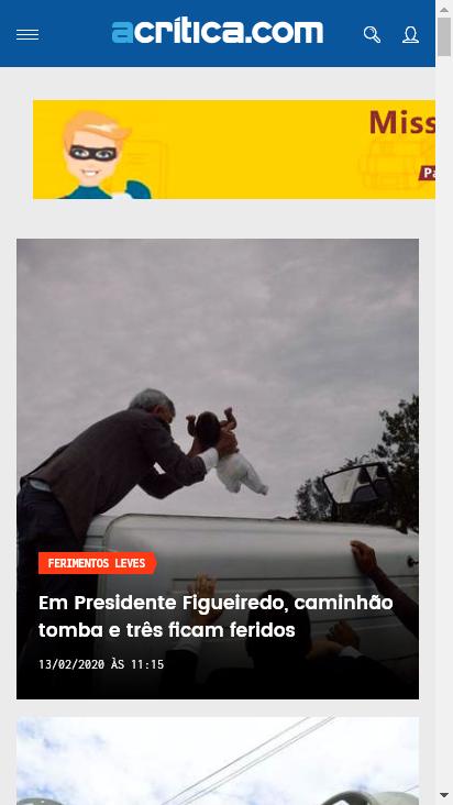 Screenshot mobile - https://www.acritica.com/