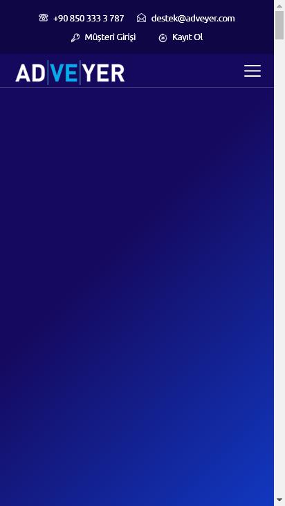 Screenshot mobile - https://www.adveyer.com/