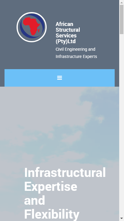 Screenshot mobile - https://africanstructuralservices.co.za/