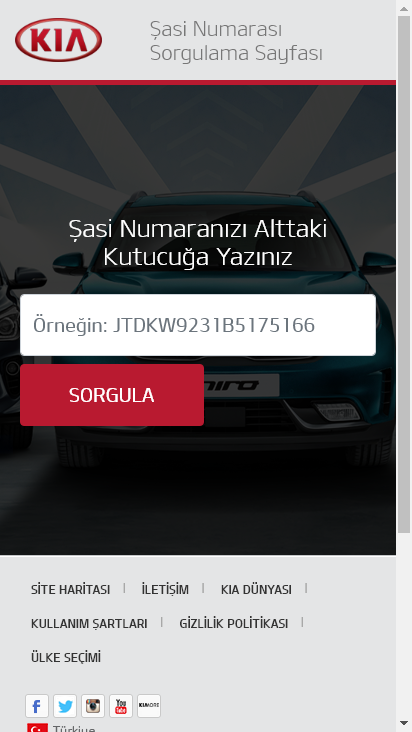 Screenshot mobile - https://aksiyonsorgulama.kia.com.tr/