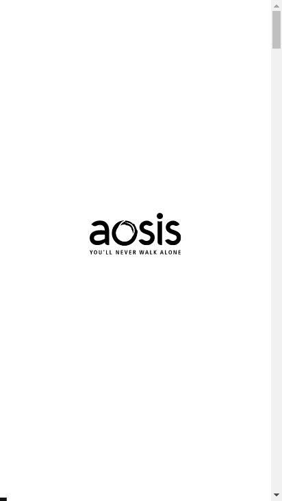 Screenshot mobile - https://www.aosis.net/