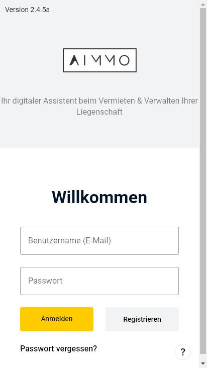 Screenshot mobile - https://app.aimmo.io/