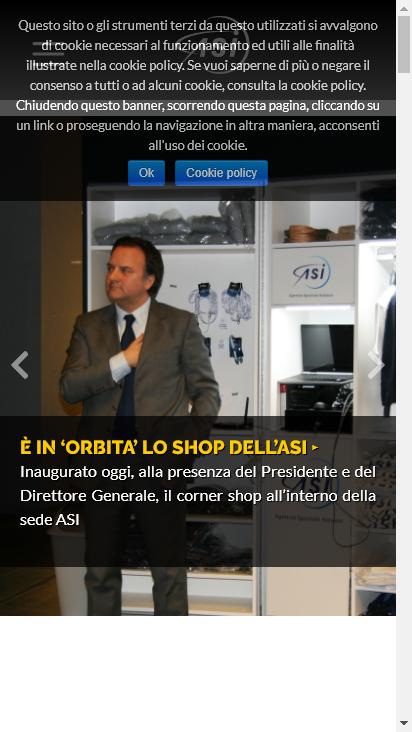 Screenshot mobile - https://www.asi.it/