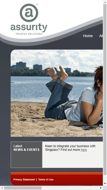 Screenshot mobile - https://www.assurity.sg/