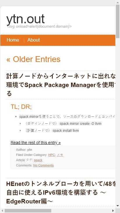 Screenshot mobile - https://blog.ytn86.net/