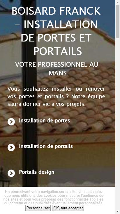 Screenshot mobile - https://www.boisard-franck-lpa.fr/